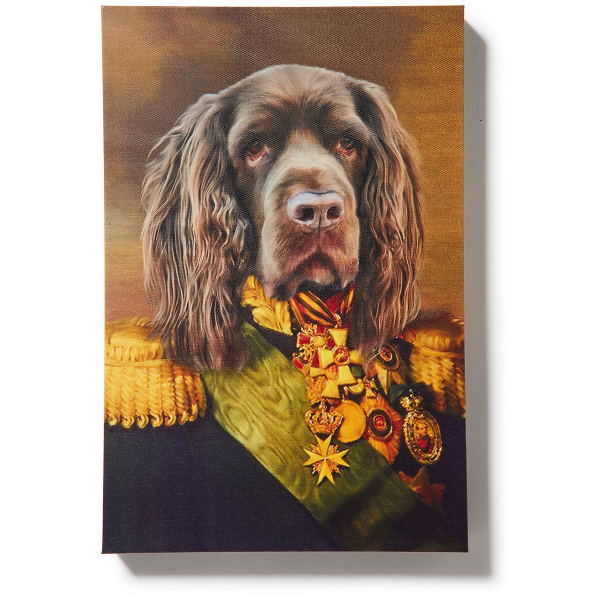 Crown & Paw dog portrait