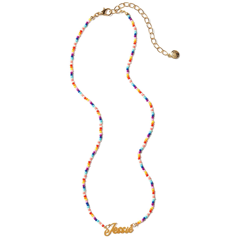 Baublebar Custom Jessie Pendant Rainbow Chain