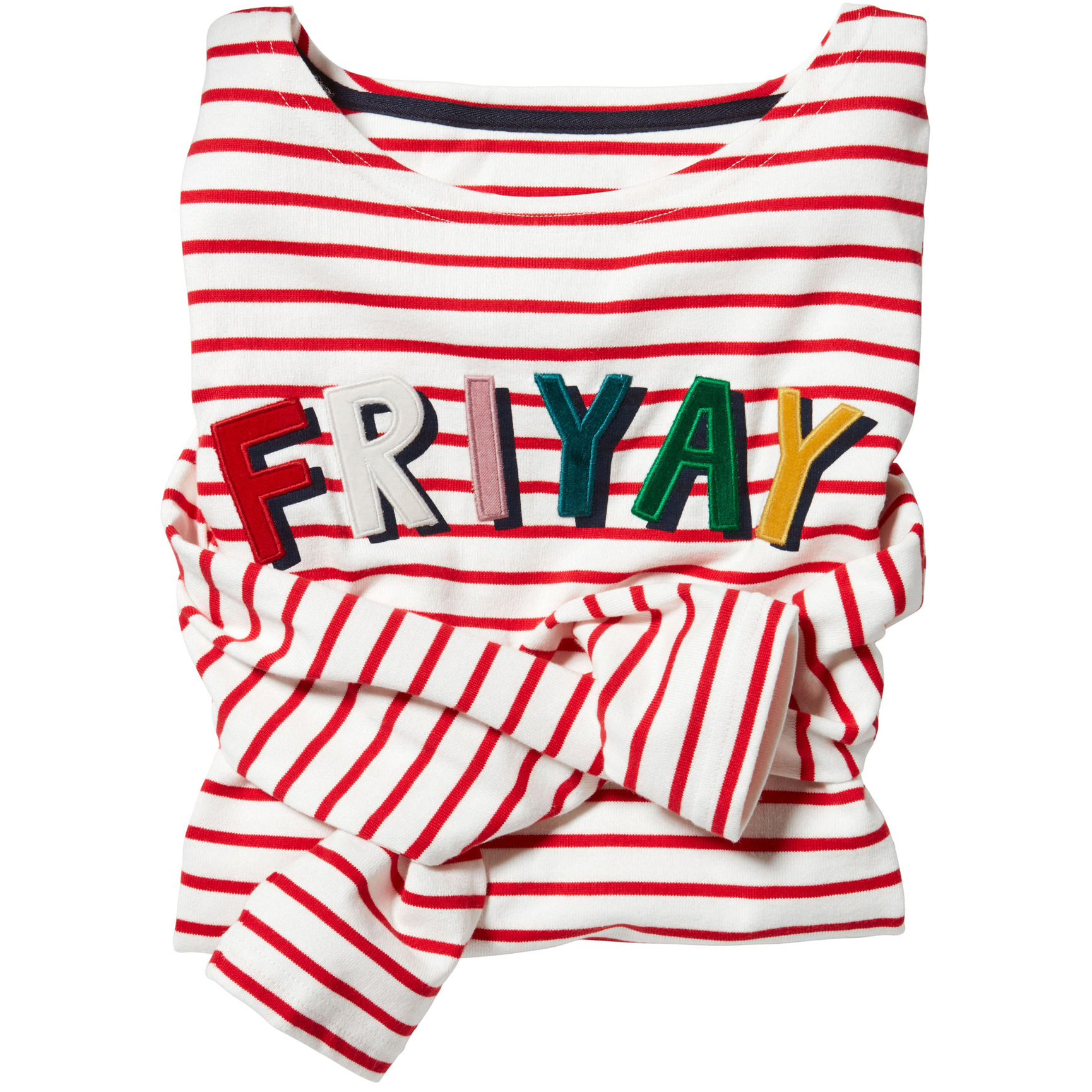joules harbour luxe long sleeve striped friyay top
