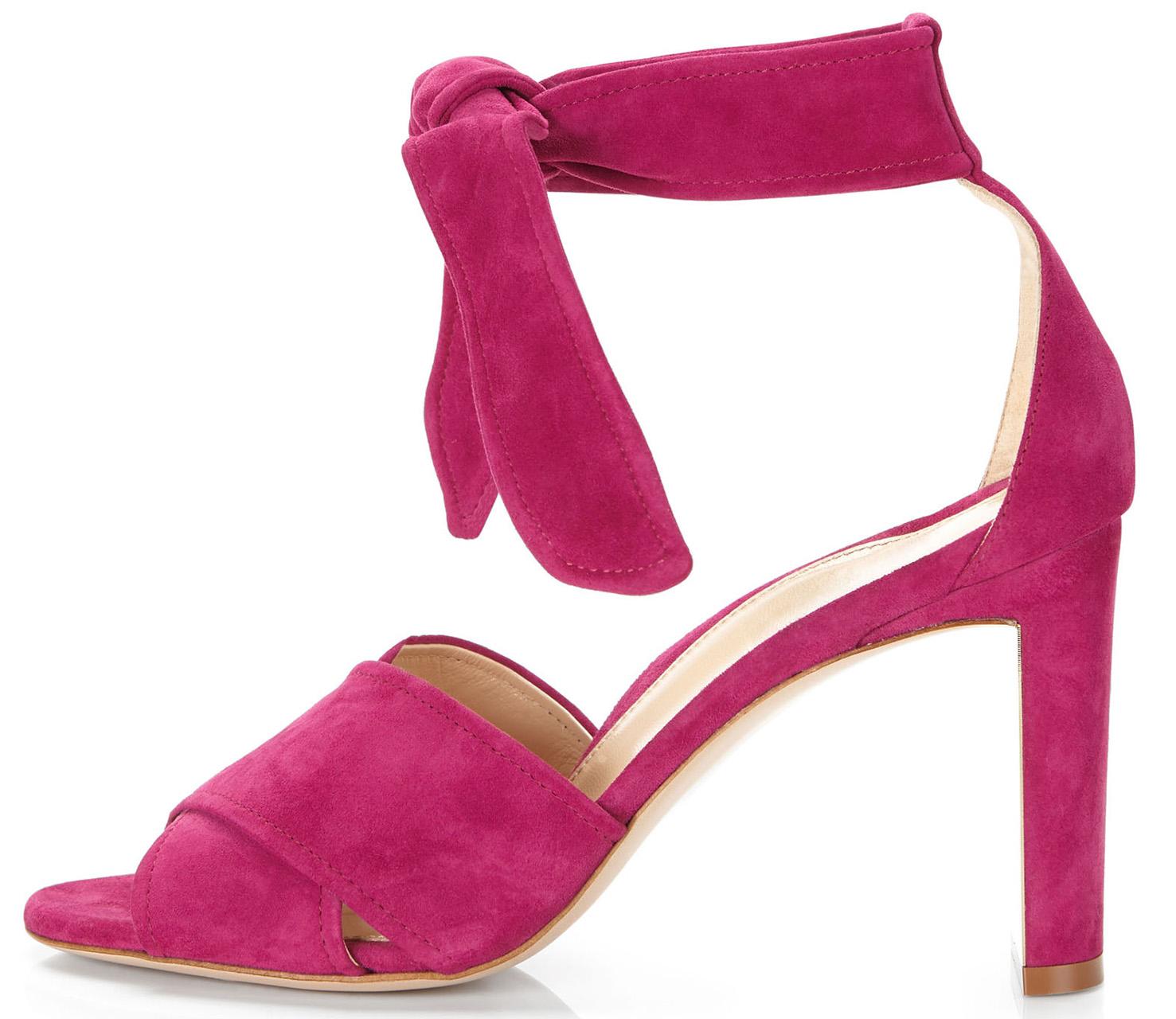 Leah Suede Ankle Tie Sandals