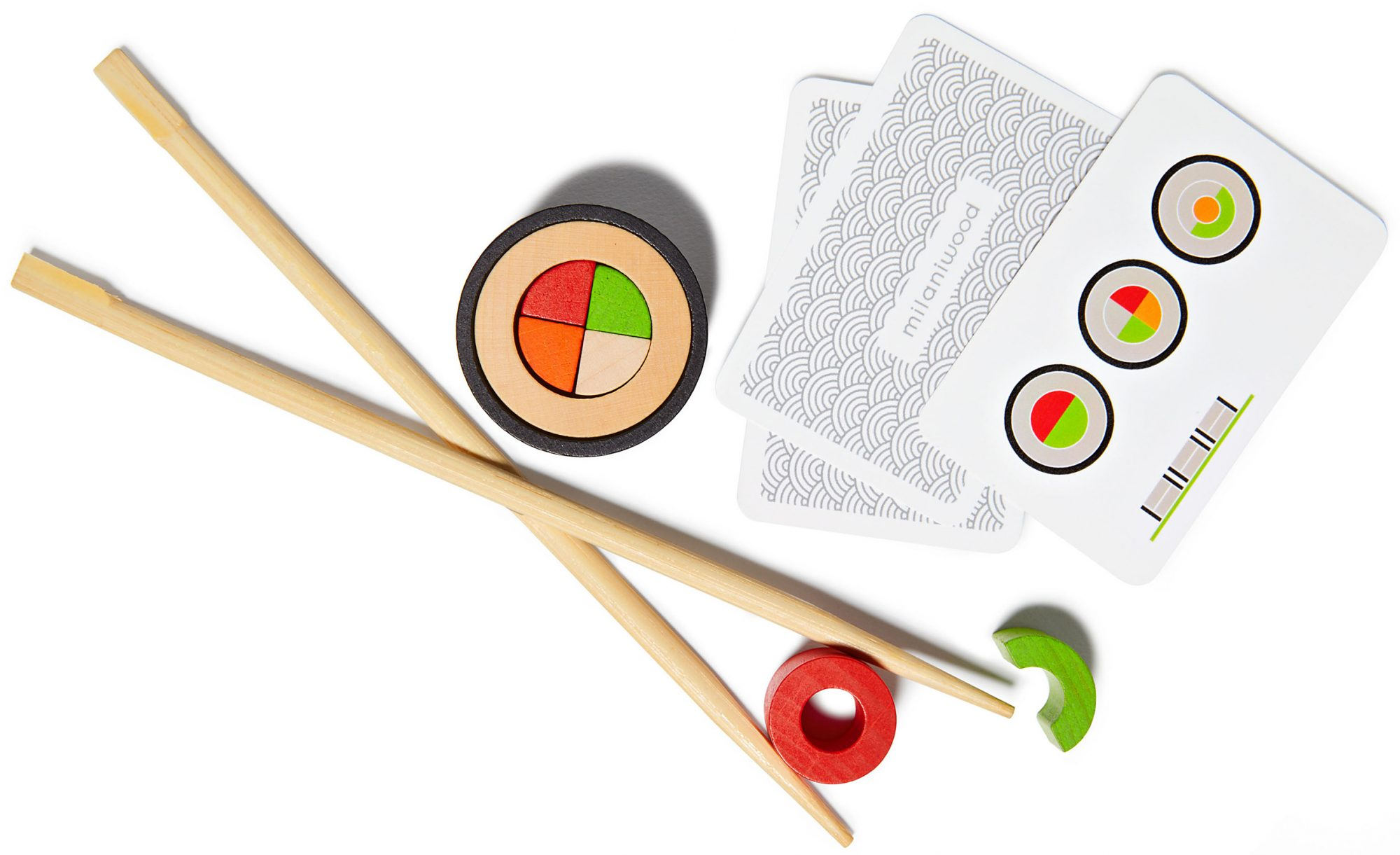Makemaki Sushi Game pieces cards