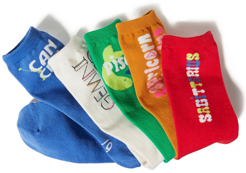 multi-colored Aerie Zodiac Crew Socks