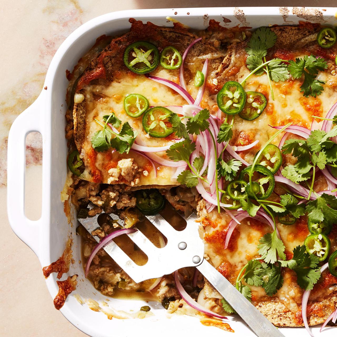 white chicken mexican lasagna