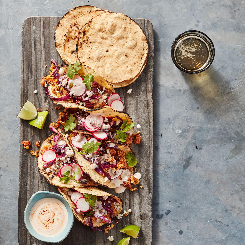 turkey and chorizo soft tacos