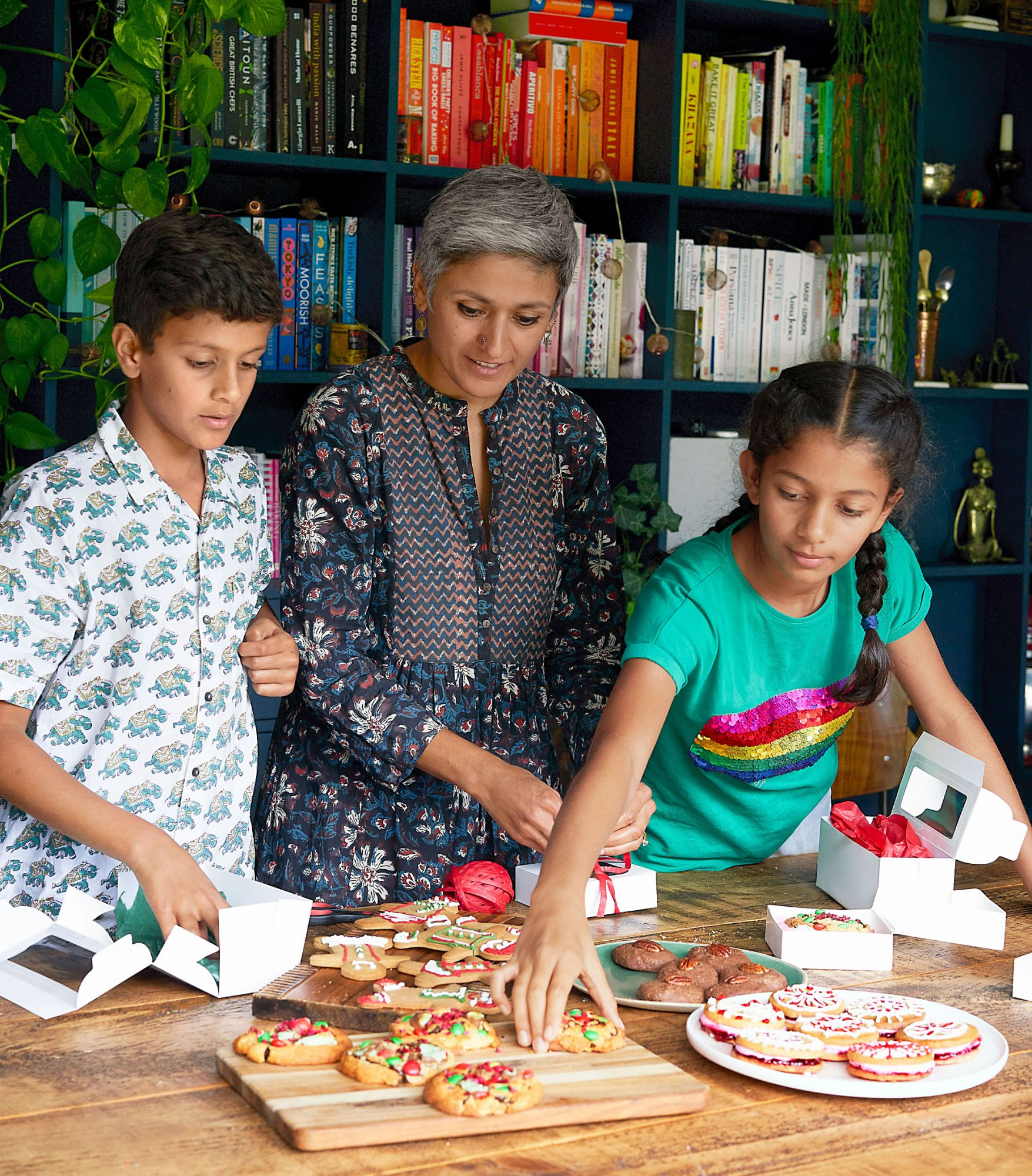 Chetna boxing cookies with kids