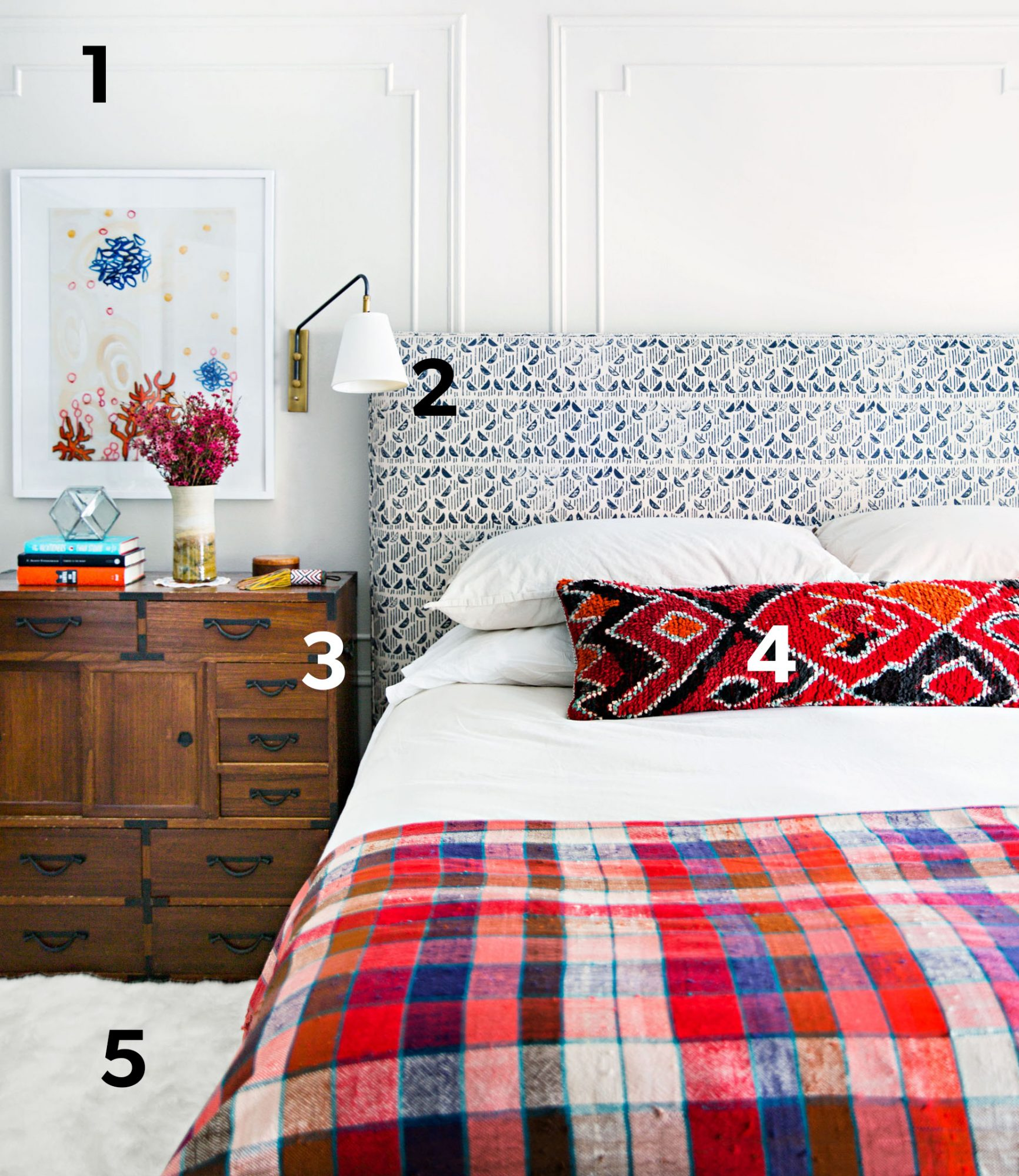 bedroom decorating suite retreat with numbers