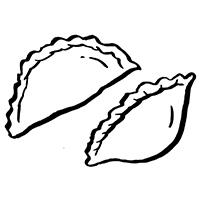 Illustration of dumplings