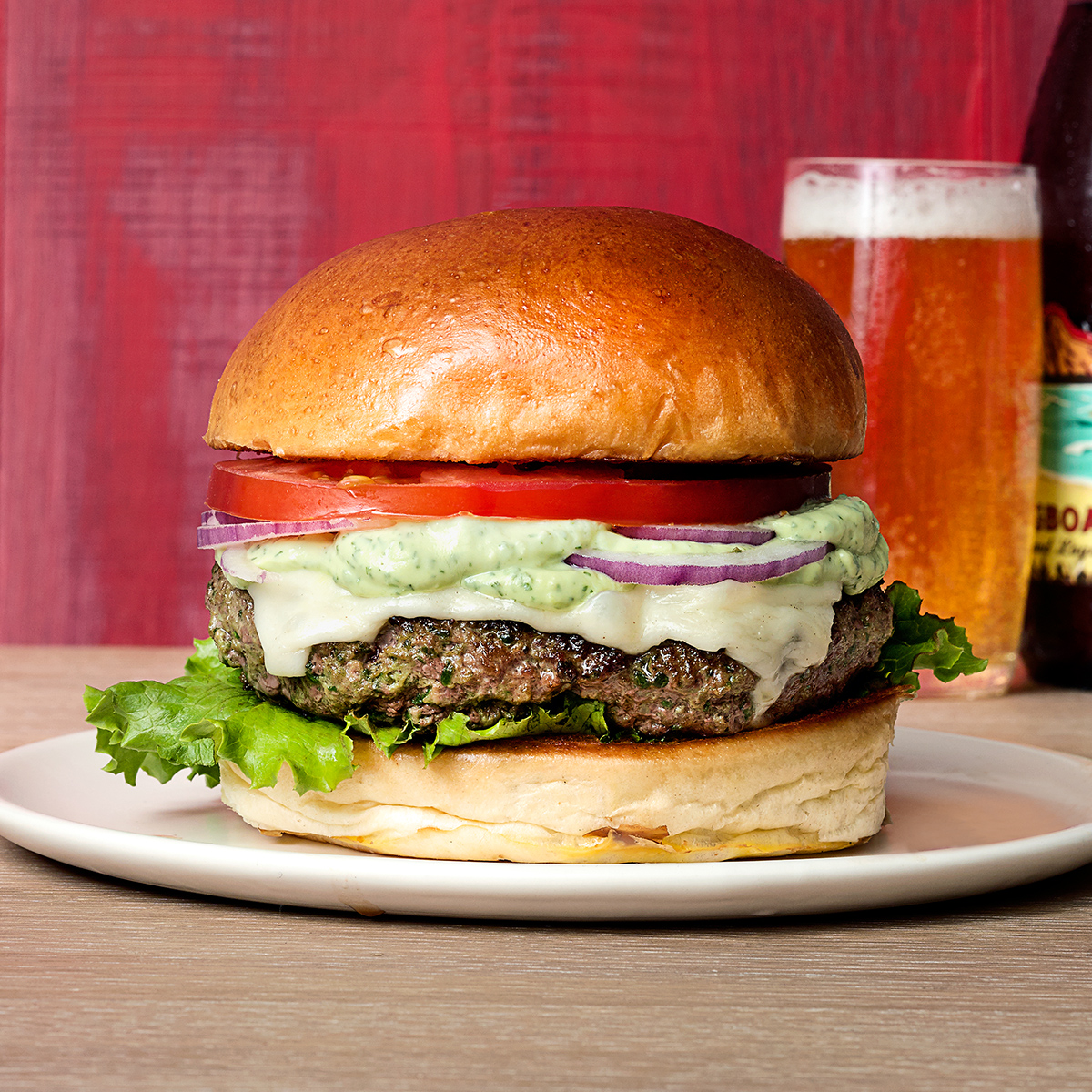 eat your greens burgers with avocado ranch dressing