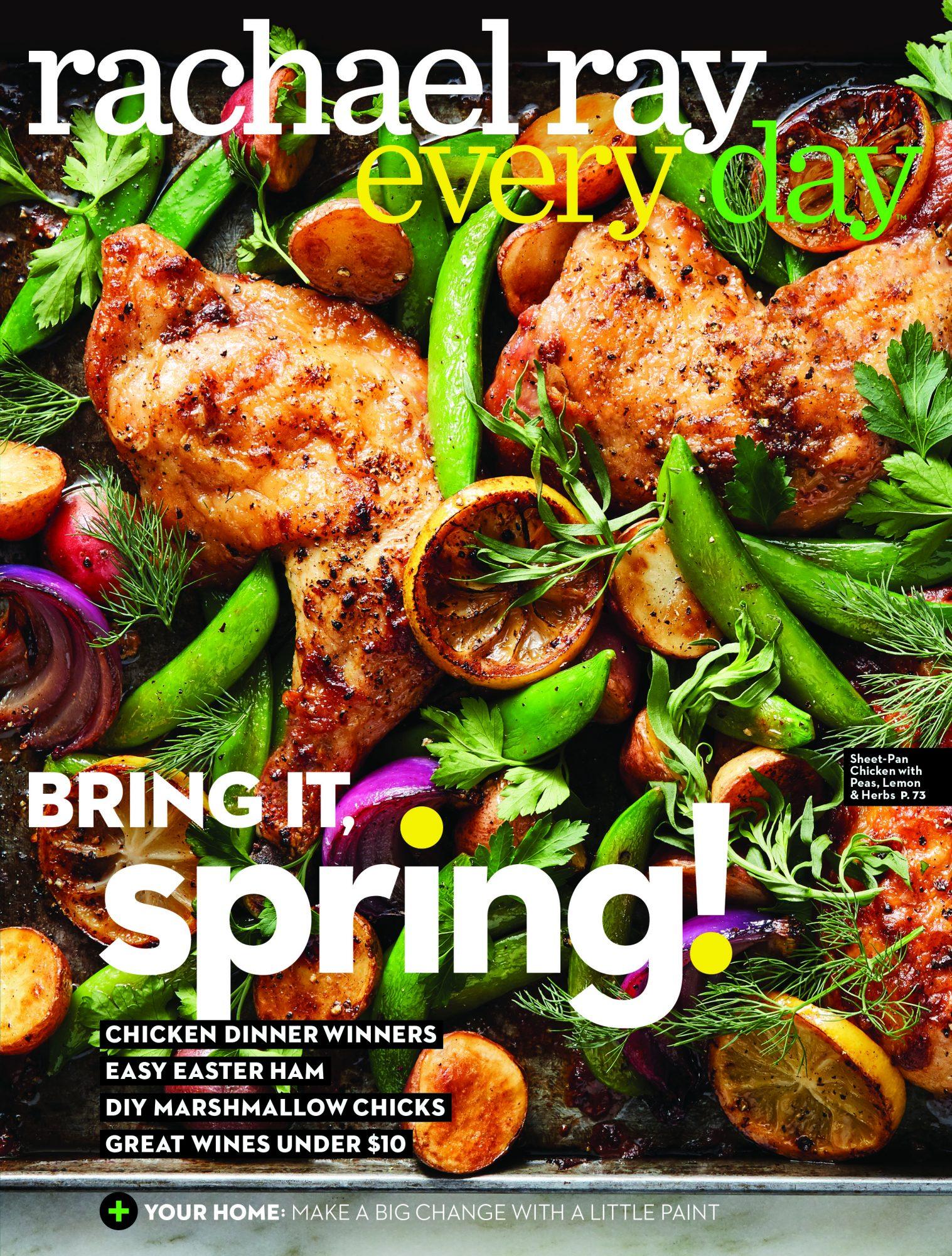 April 2018 cover - sheet-pan chicken