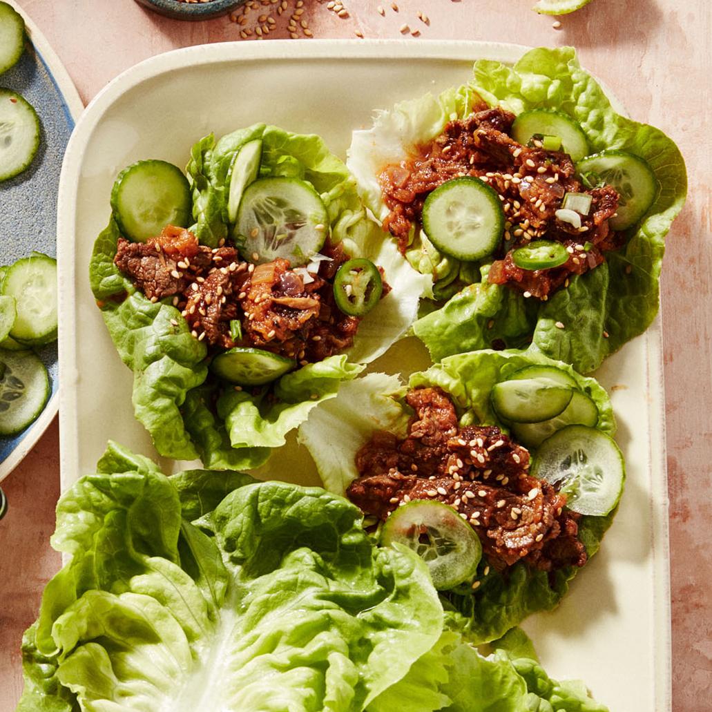 bulgogi lettuce wraps