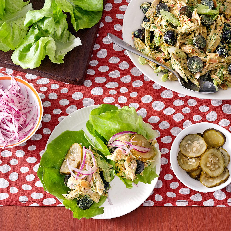 Coronation Chicken Salad Lettuce Wraps