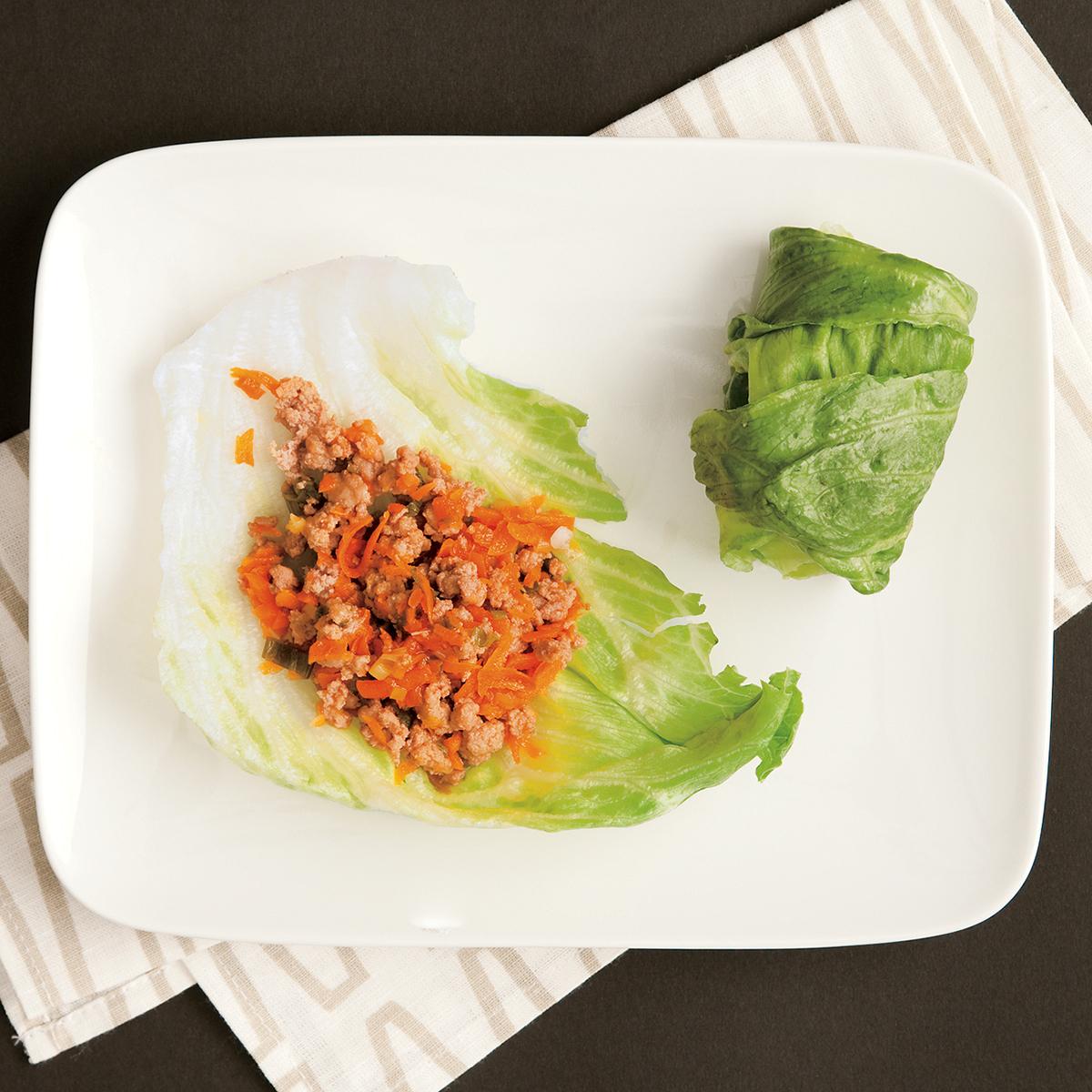 teriyaki turkey lettuce wraps