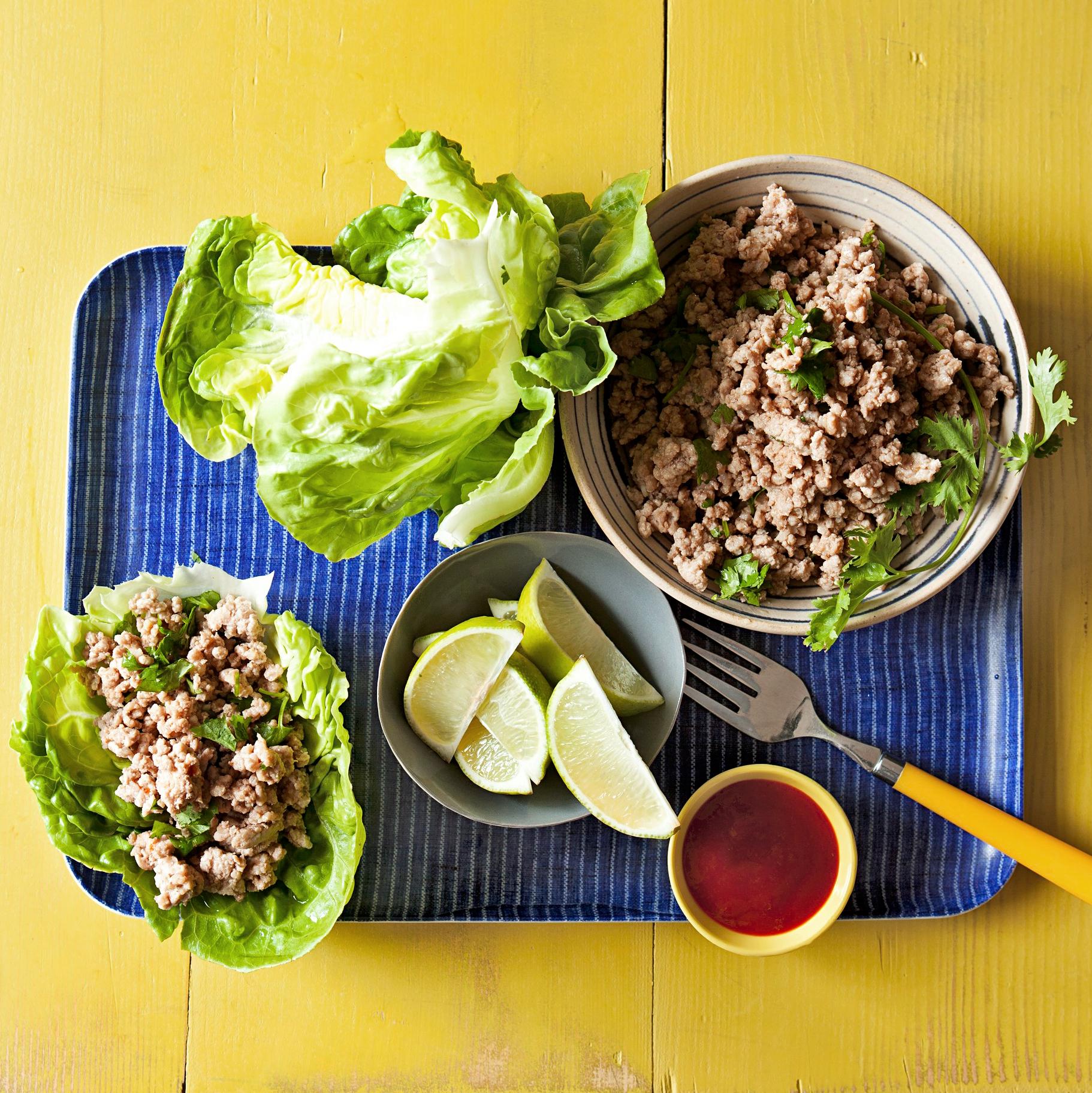 Thai Pork Wrap-Ups