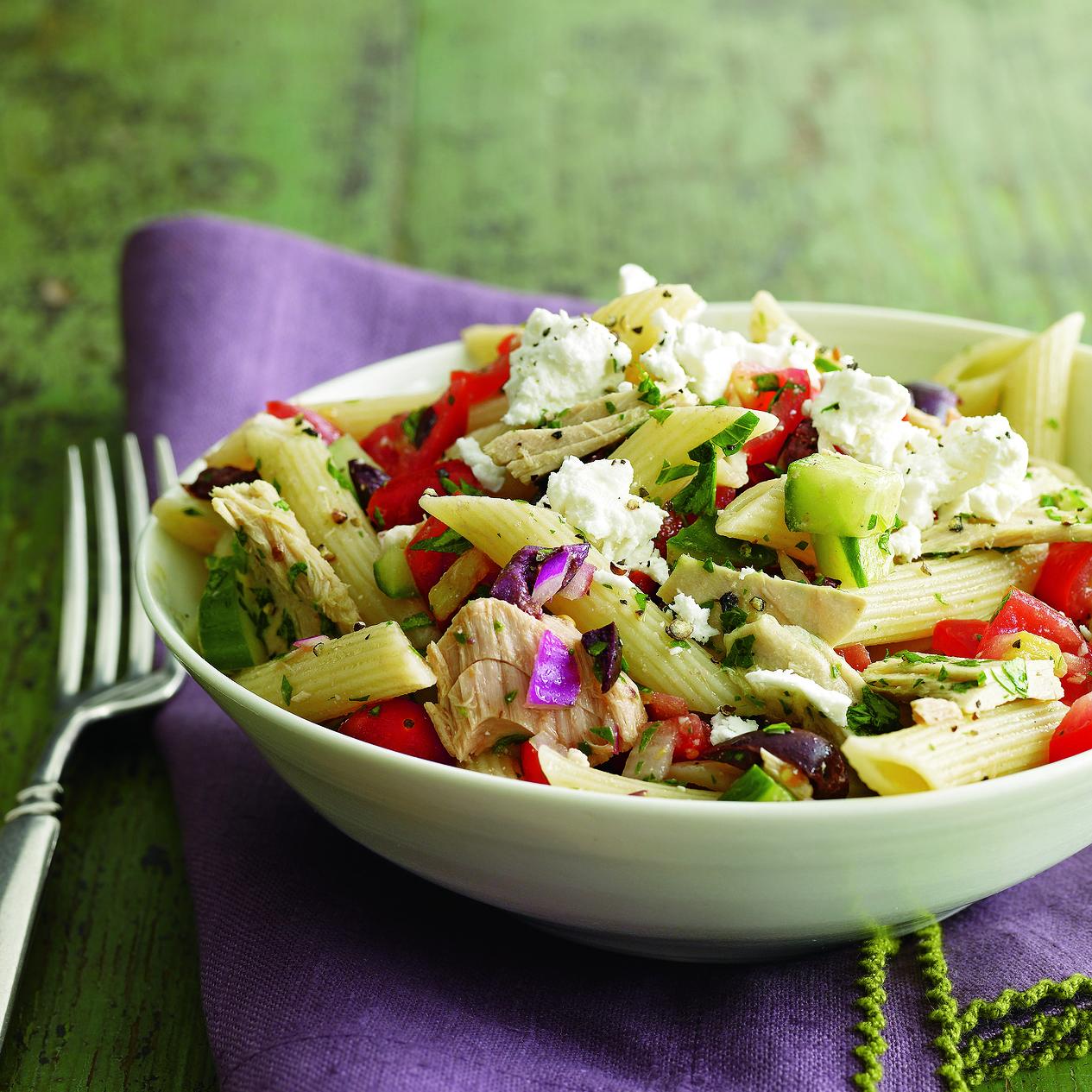Greek Tuna Salad Pasta