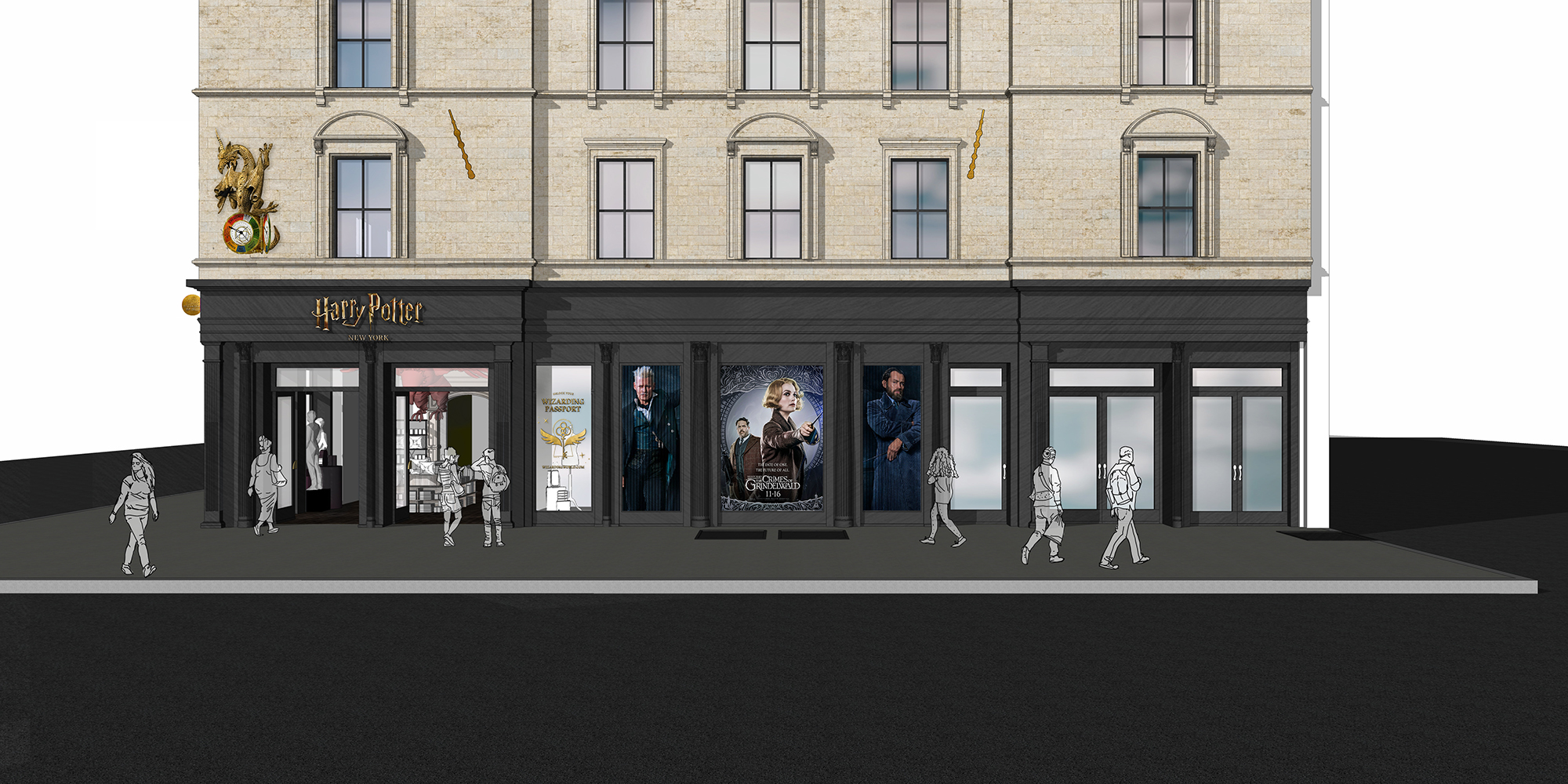 Harry Potter New York Flagship -Concept 1