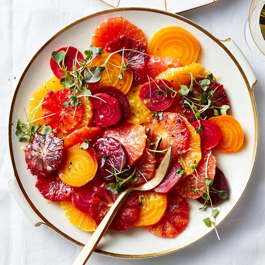 mixed beet and orange salad