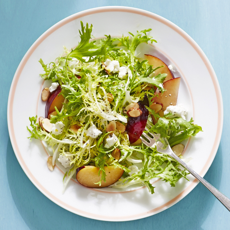 frisée salad goat cheeseplums