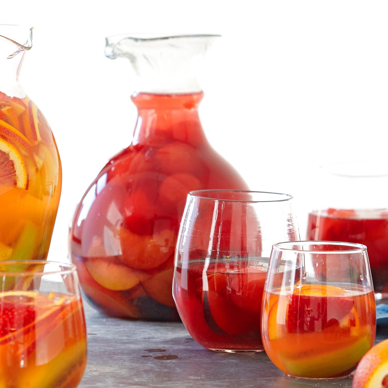 watermelon-plum sangria
