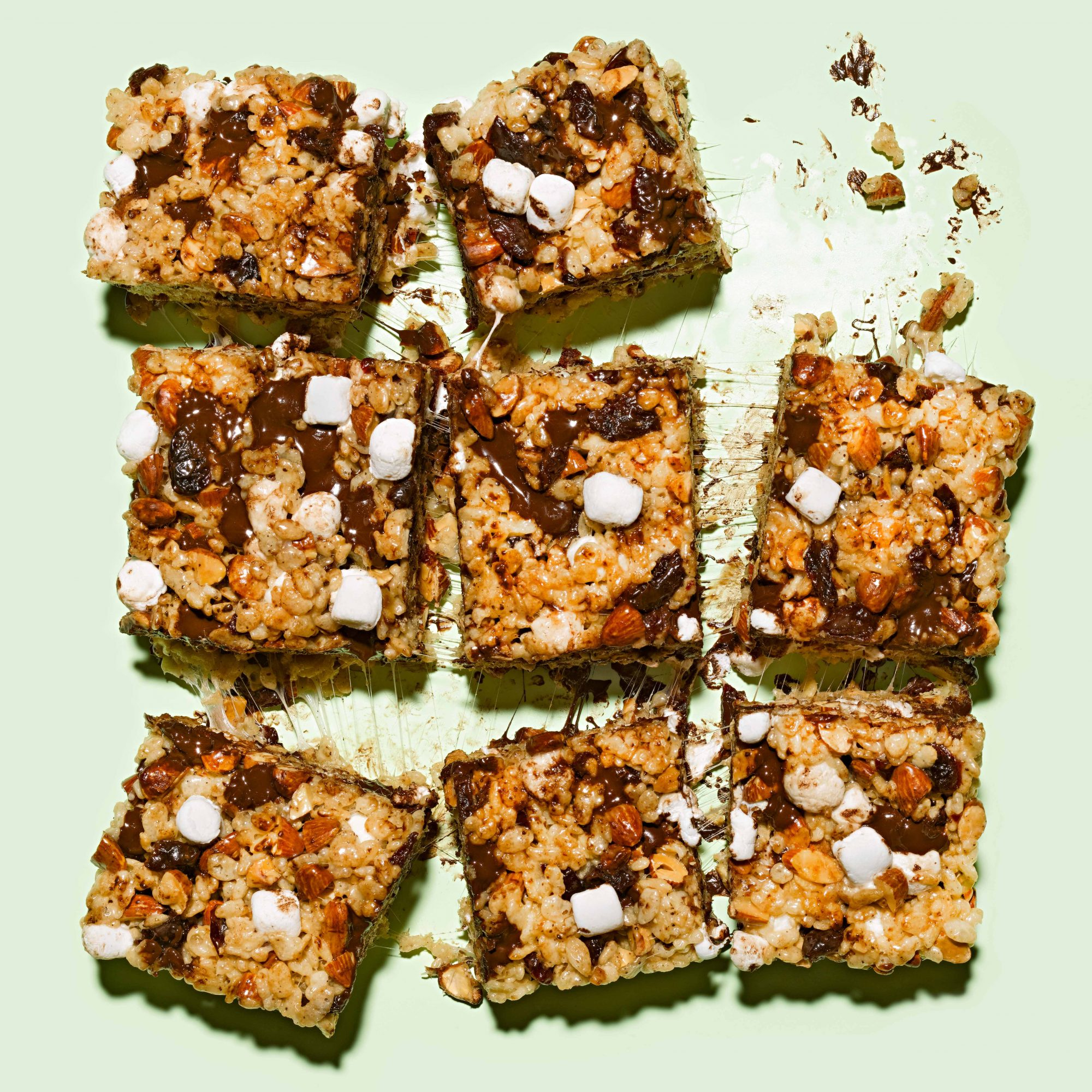 Coffee-Marshmallow Crispies with Chocolate, Cherries & Almonds