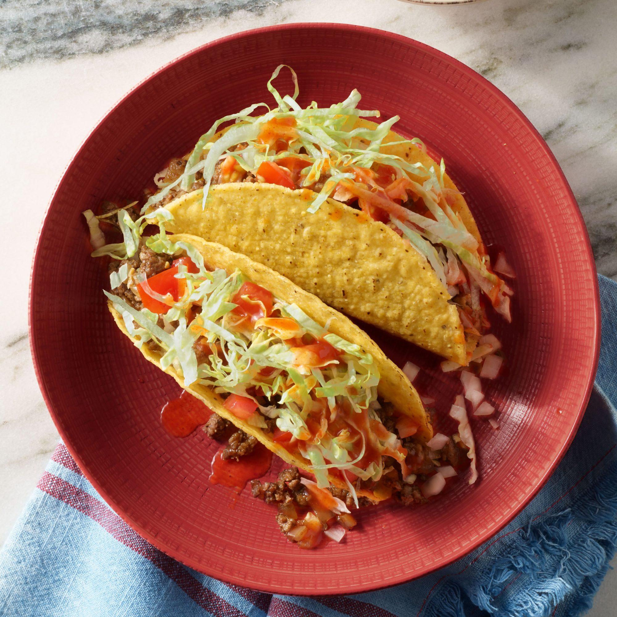 hard shell red eye tacos