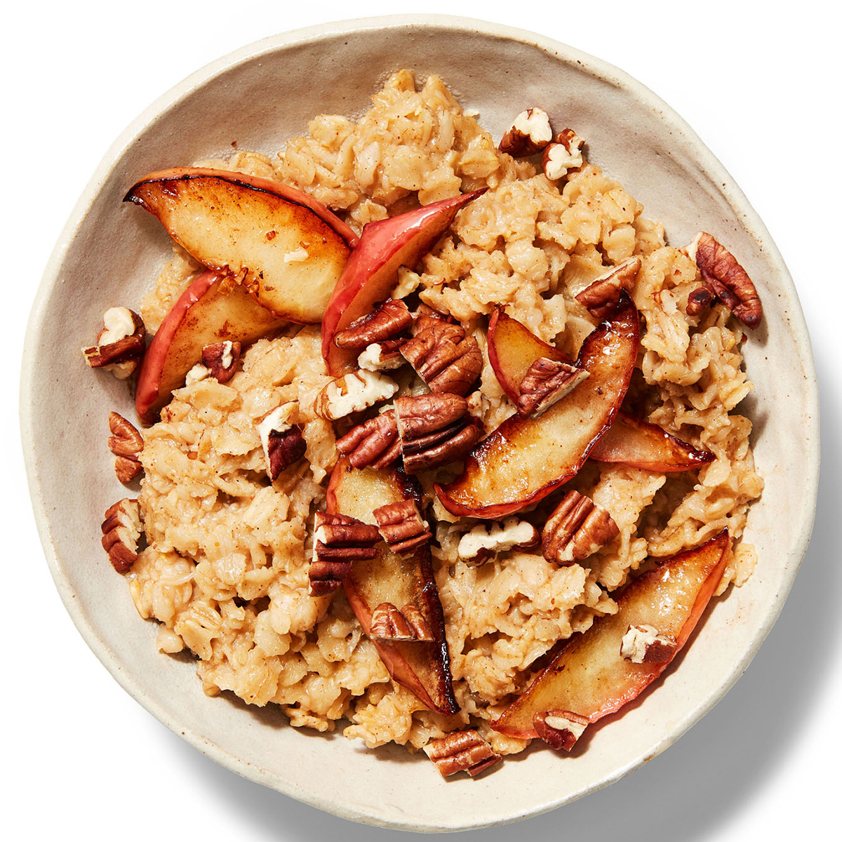 apple cider oatmeal with sauteed apples