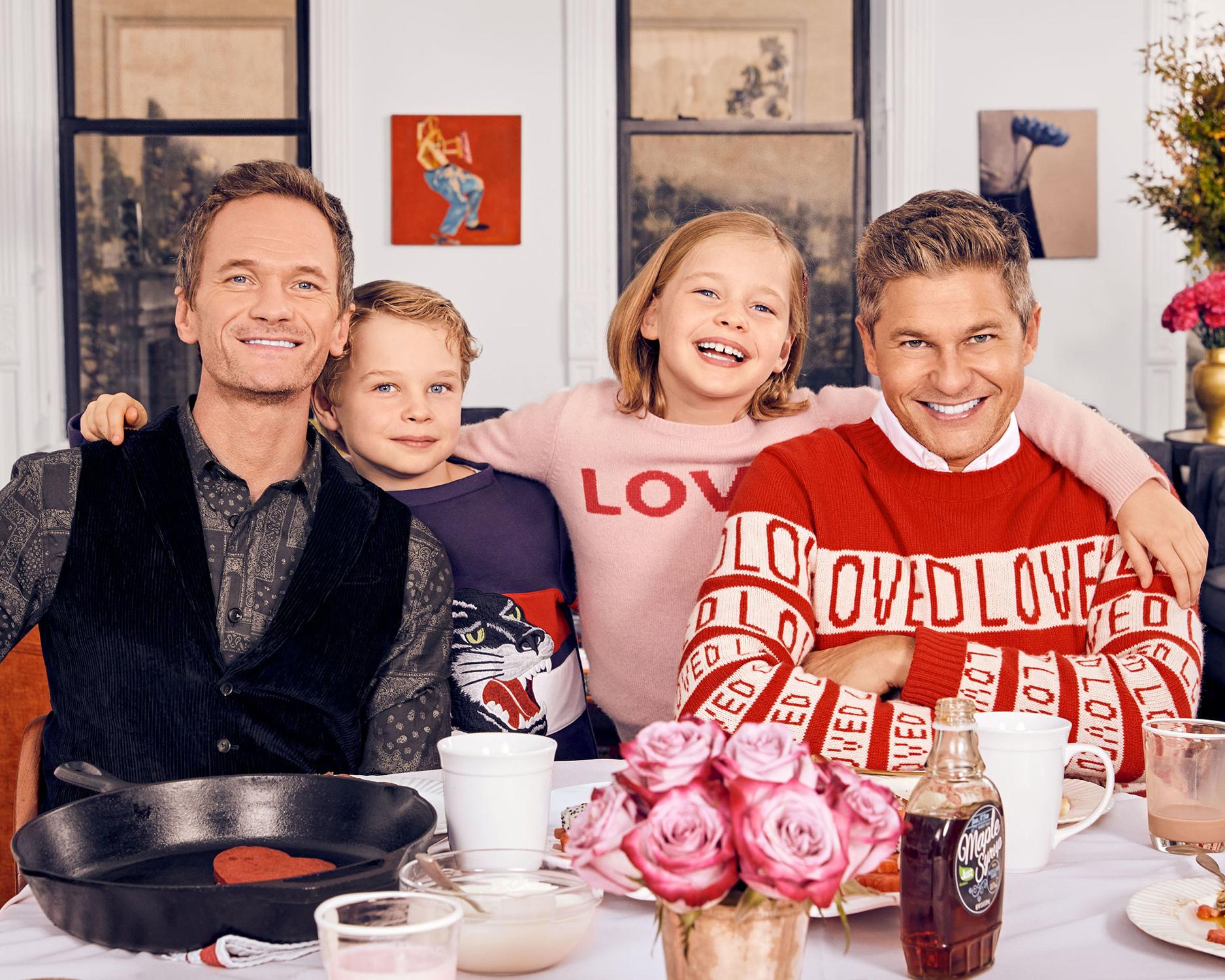 Neil Patrick Harris, David Burtka, and family