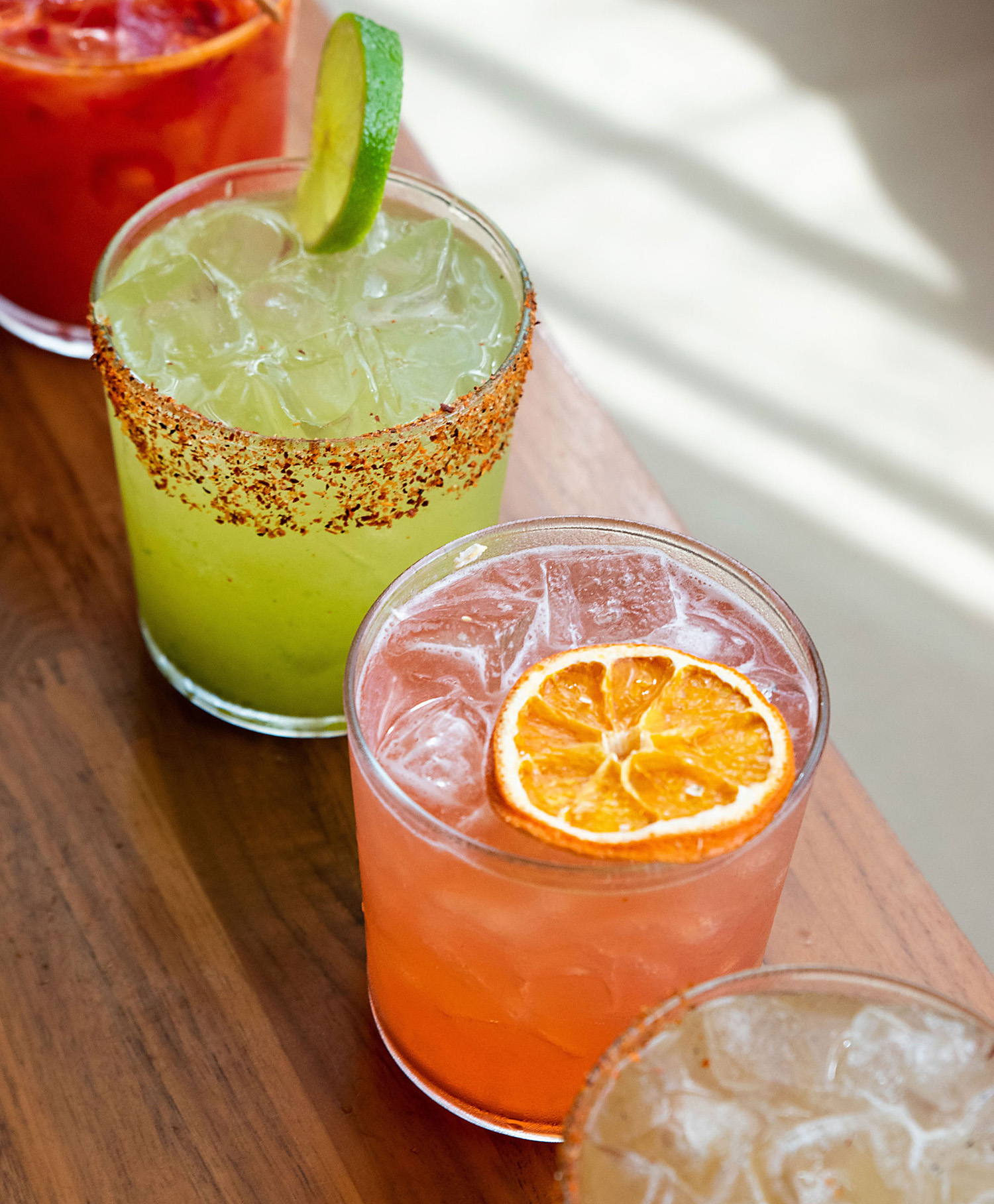 assorted cocktail drinks