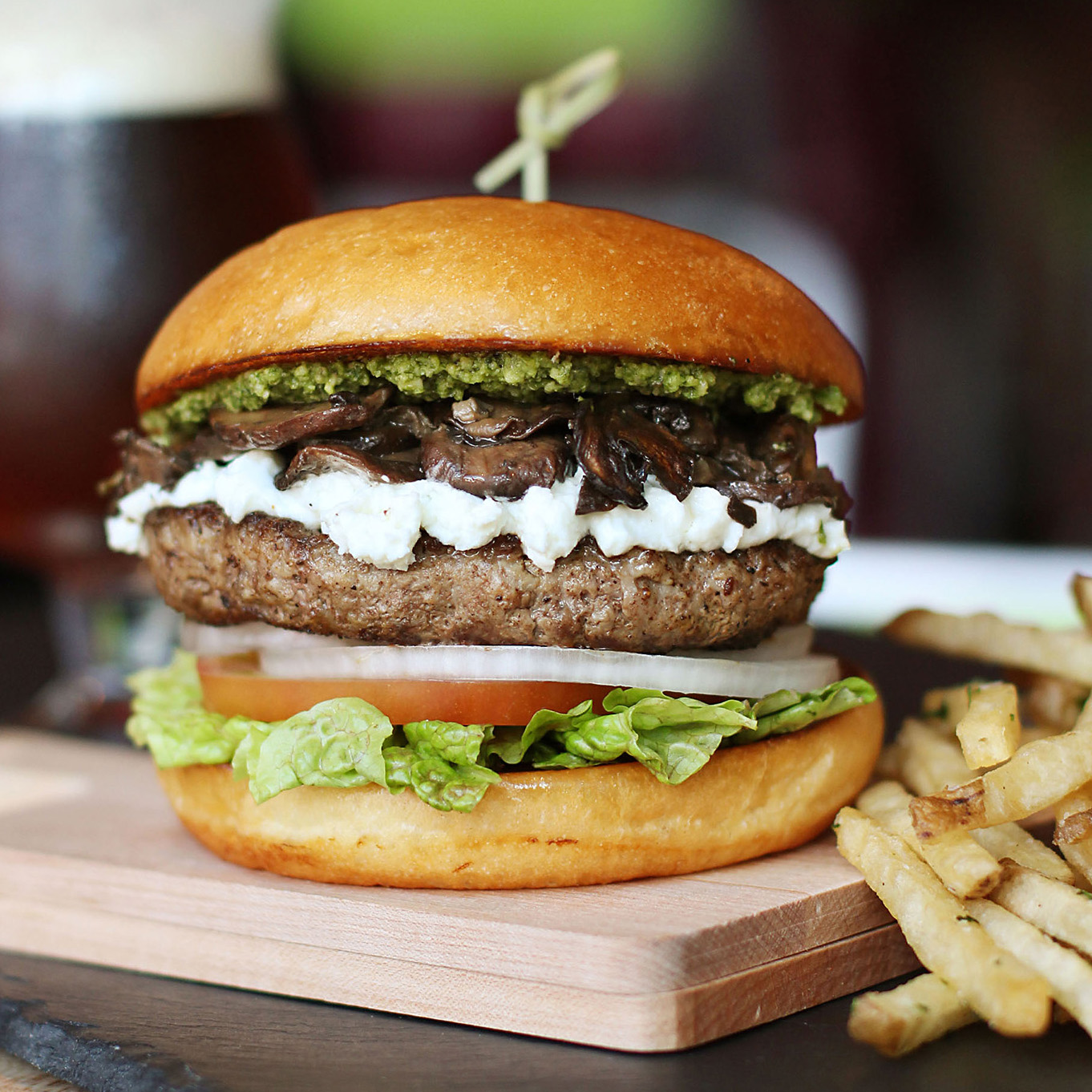 burger and fries from Hopdoddy