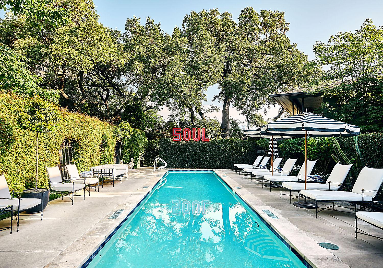 Hotel Saint Cecilia pool with Soul sign