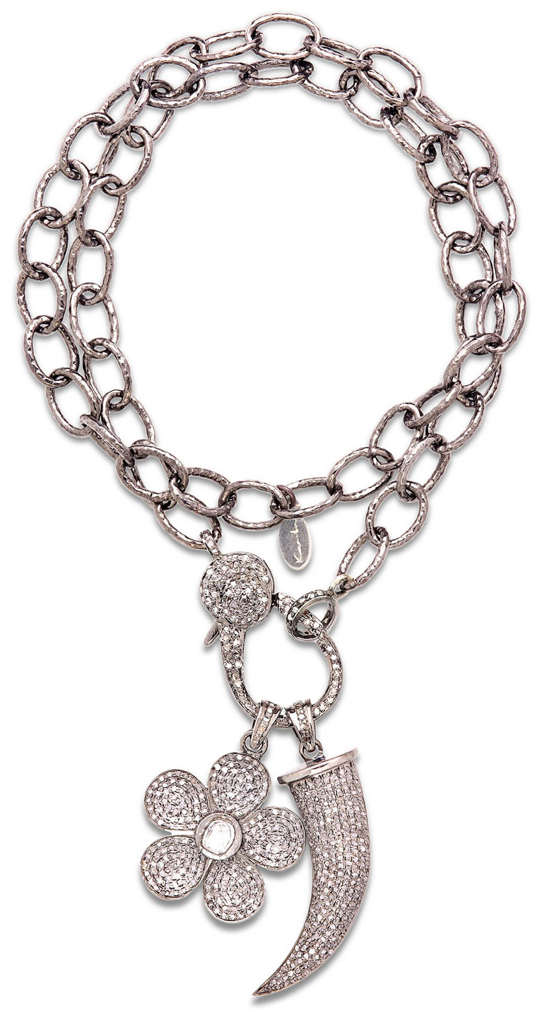 silver Kar-bn necklace
