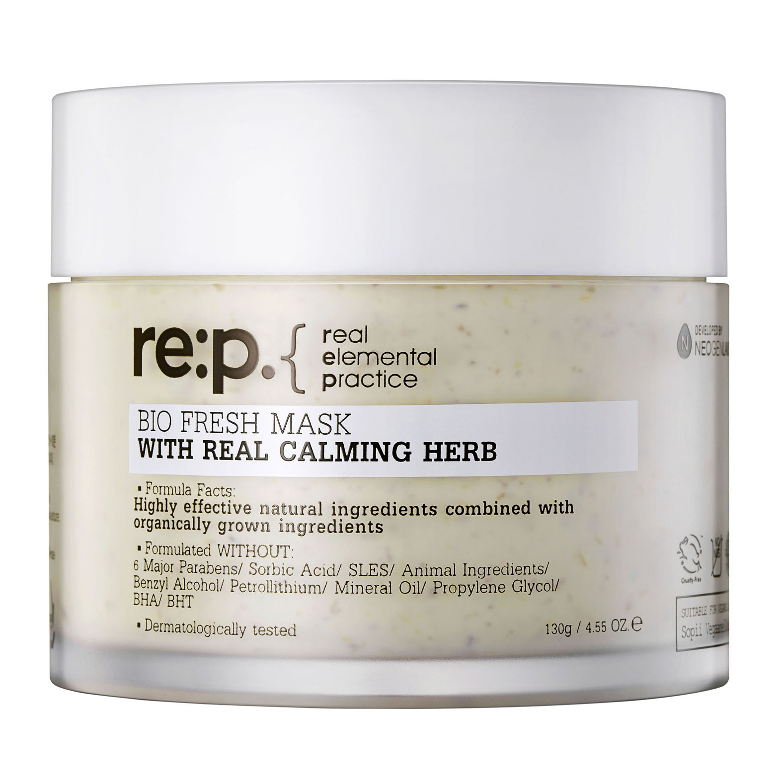 re p bio fresh mask with real calming herbs