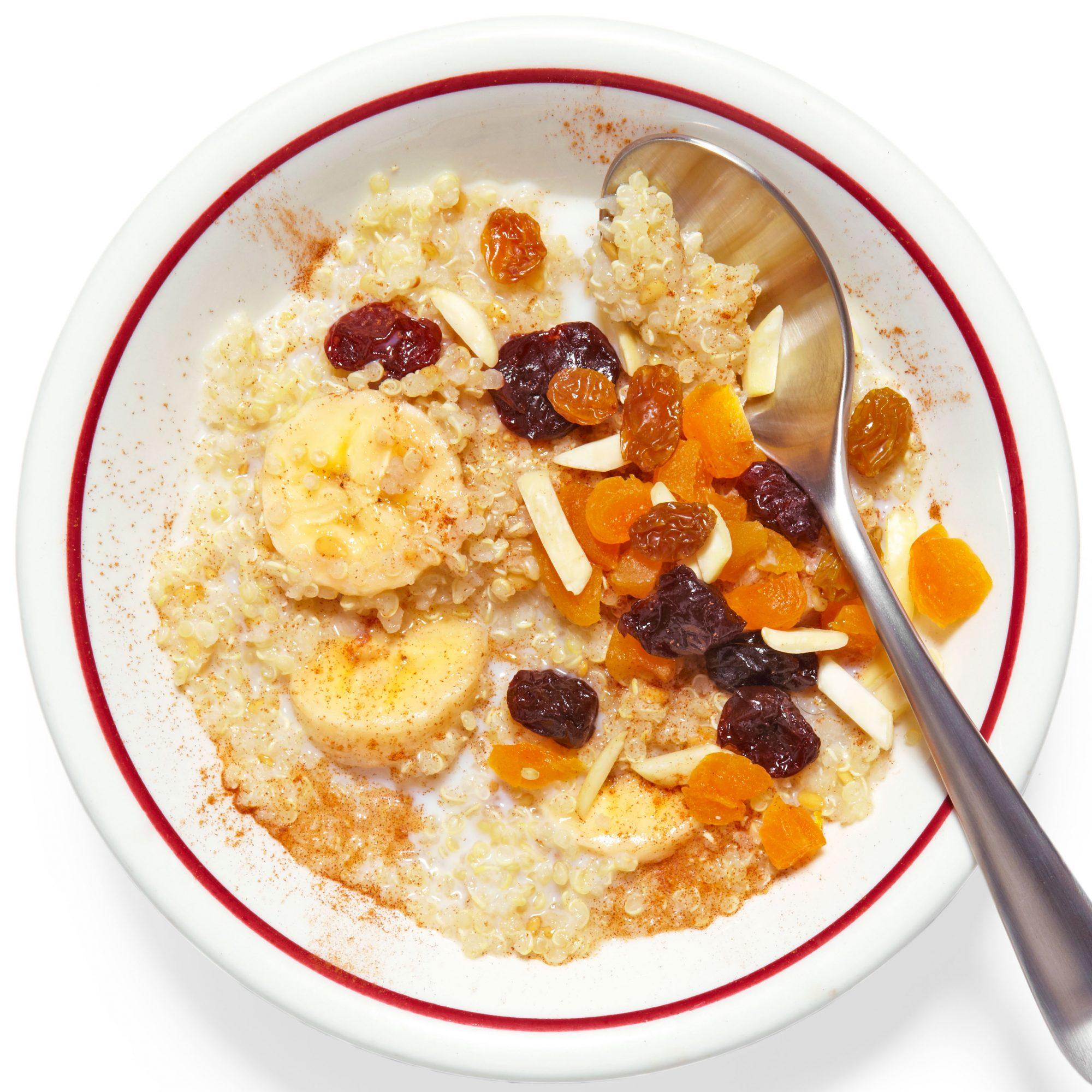 Overnight Fruit & Flax Quinoa Hot Cereal