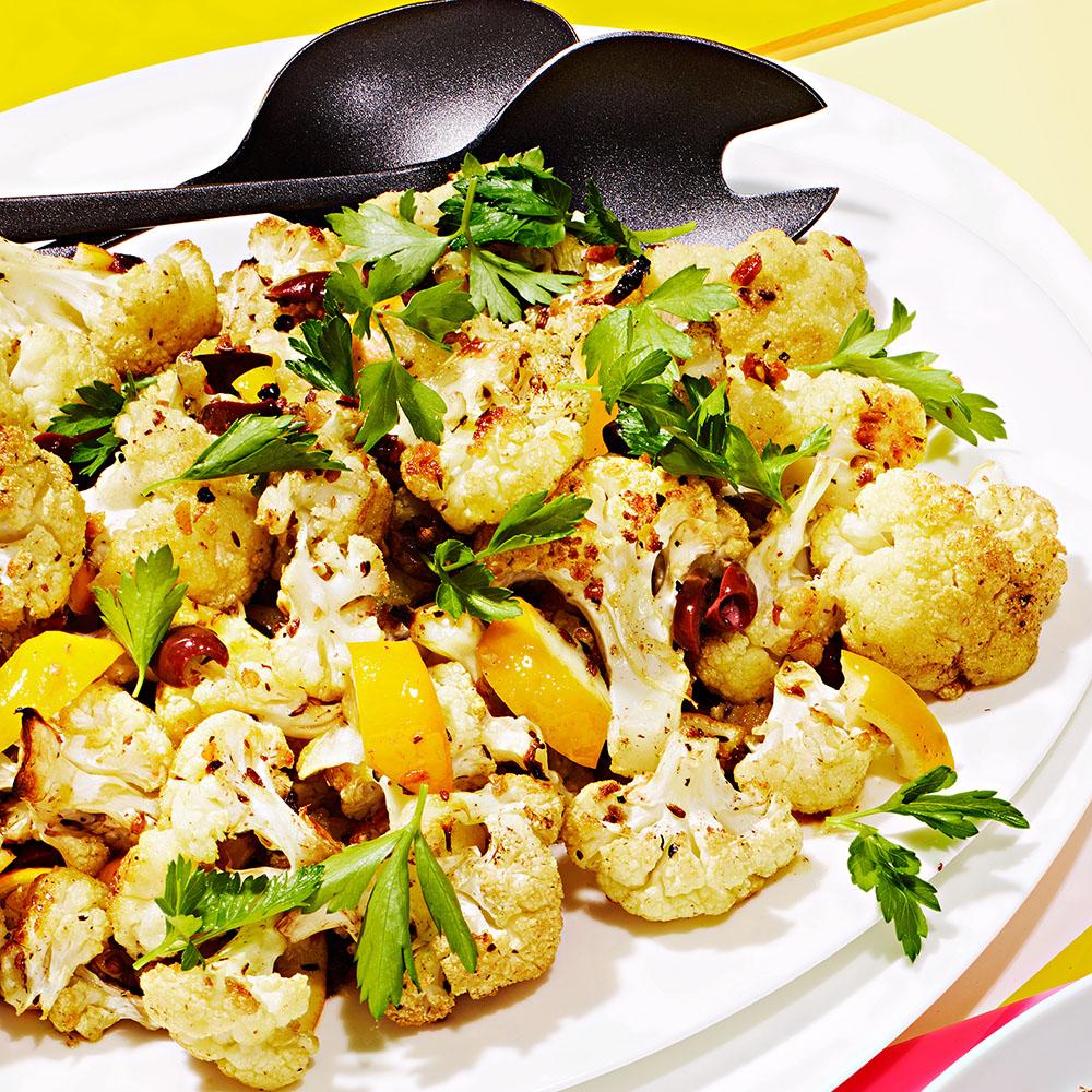 Spiced Cauliflower with Quick-Preserved Meyer Lemon