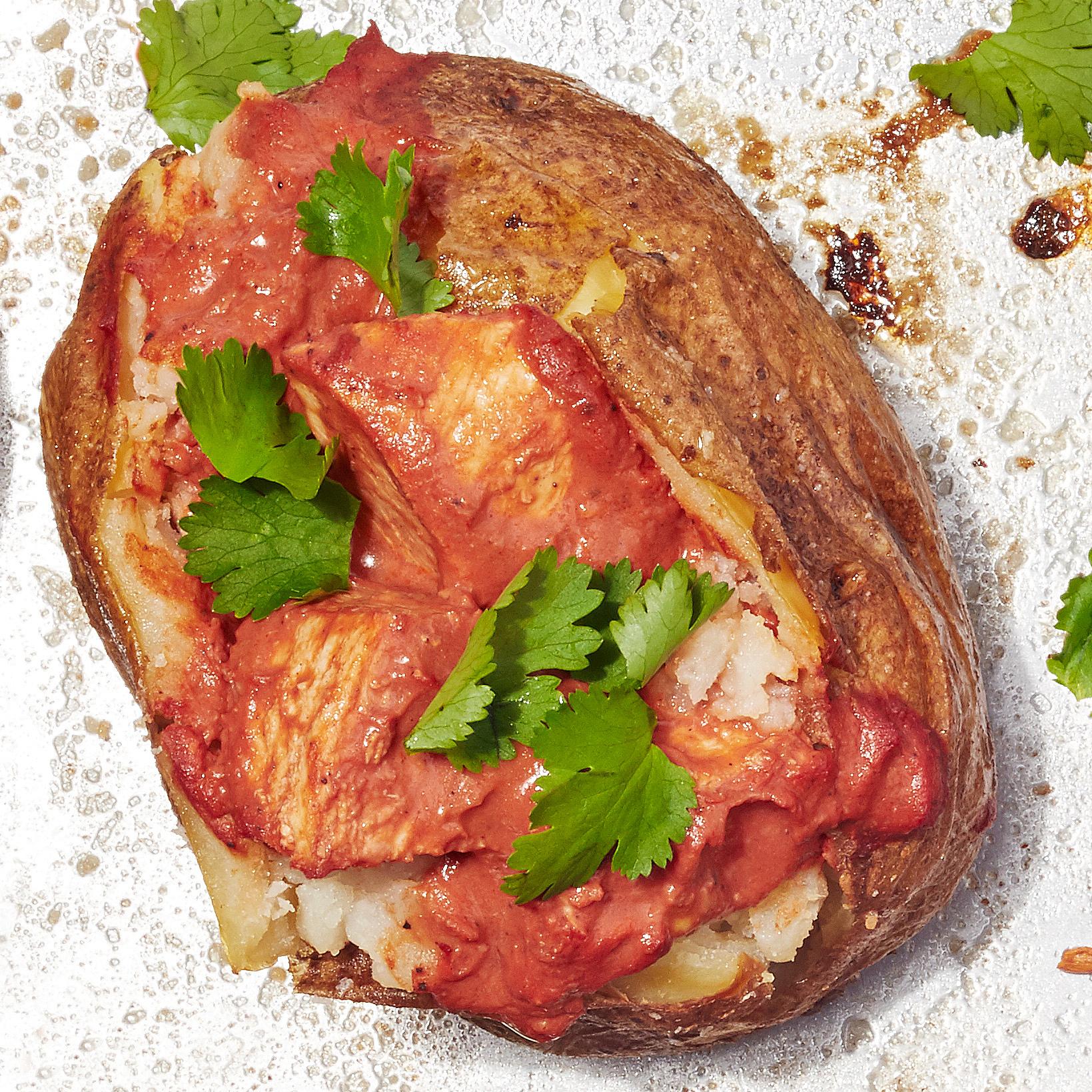 chicken tikka baked potato