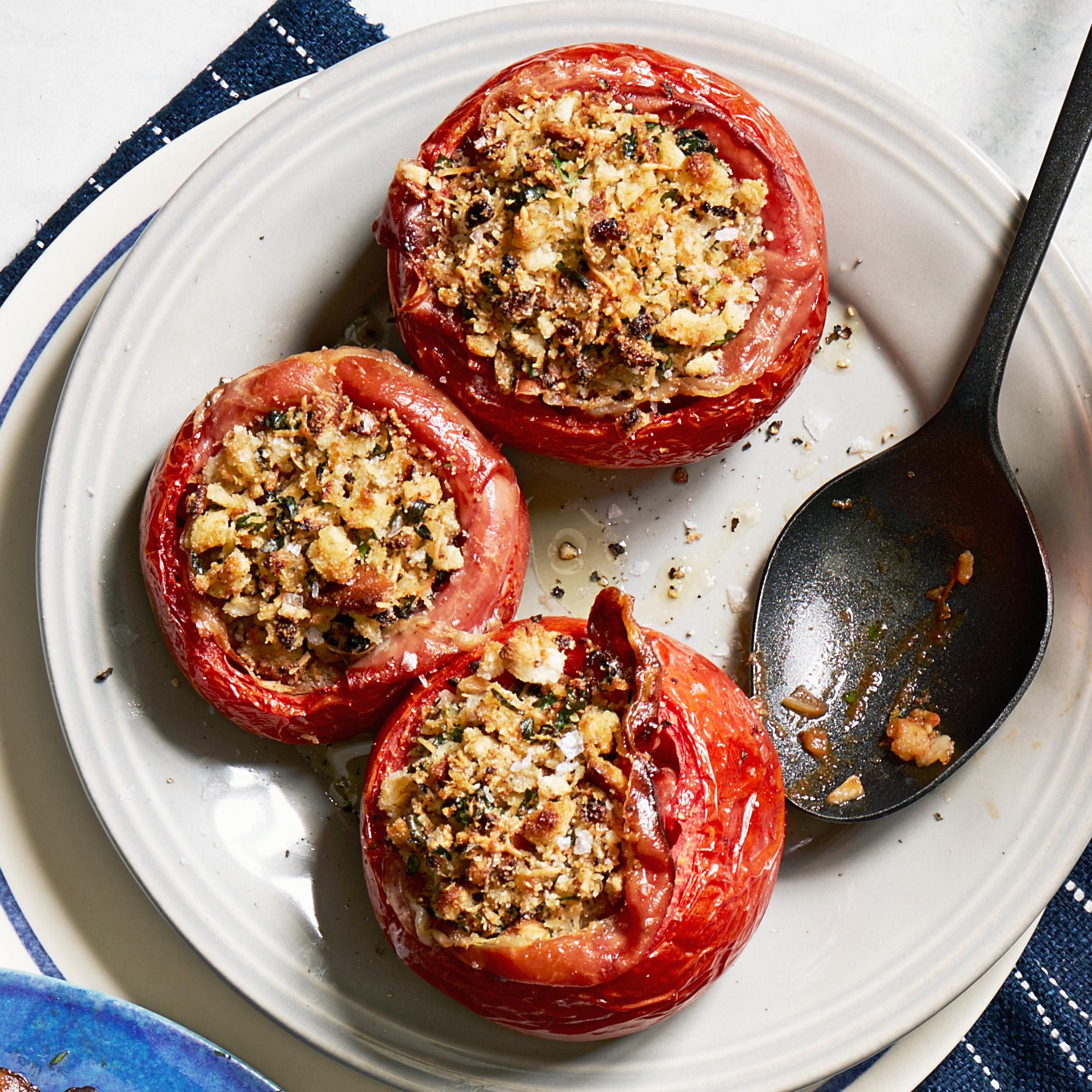 Stuffed Tomatoes with Serrano & Manchego
