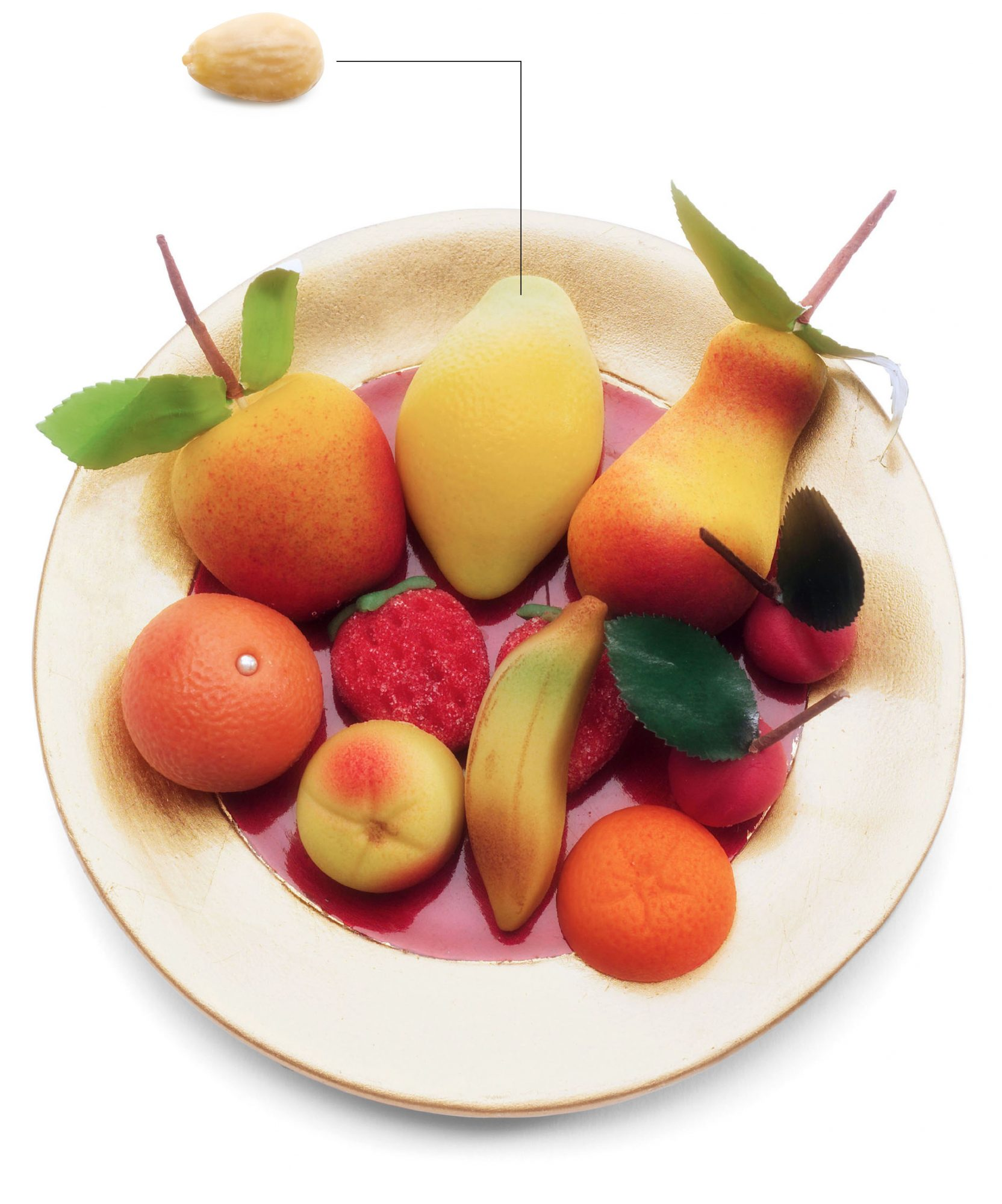 almond with marzipan fruit plate