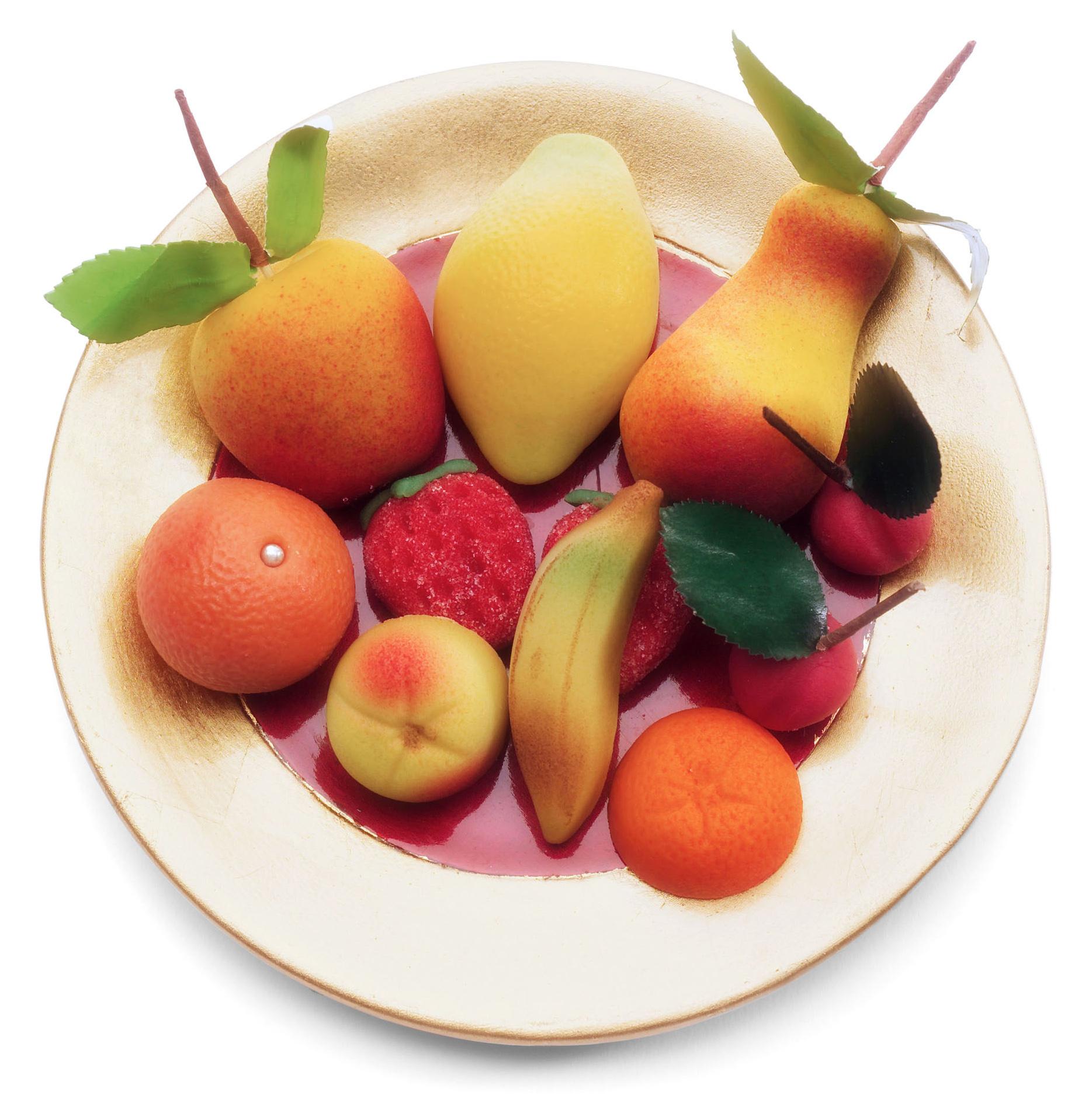 marzipan fruit dish