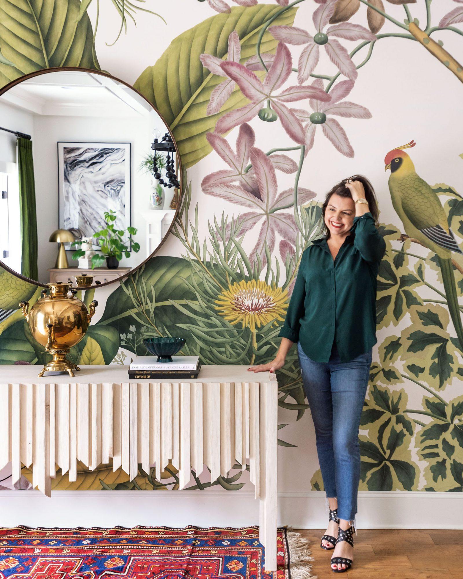 portrait of jade joyner in colorful living room
