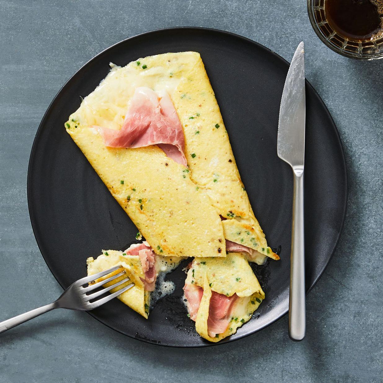 croque madame egg crepe