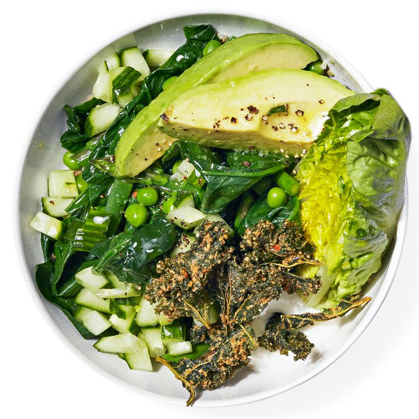 Greens Bowl with Garlic-Yogurt Sauce