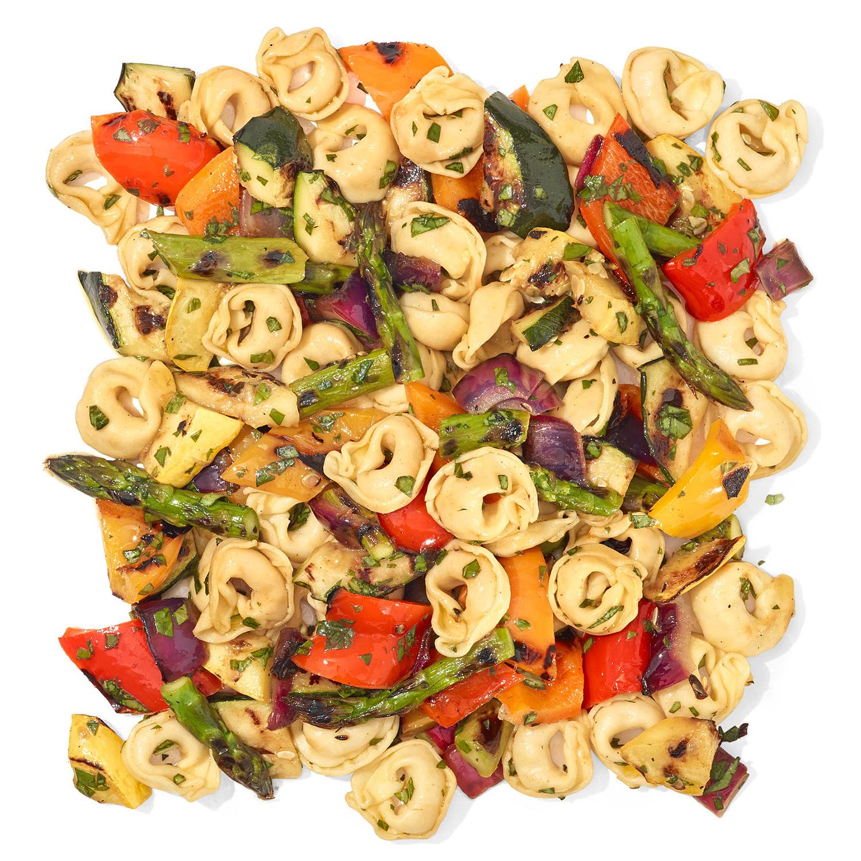 Cheesy Grilled Veggie Pasta Salad