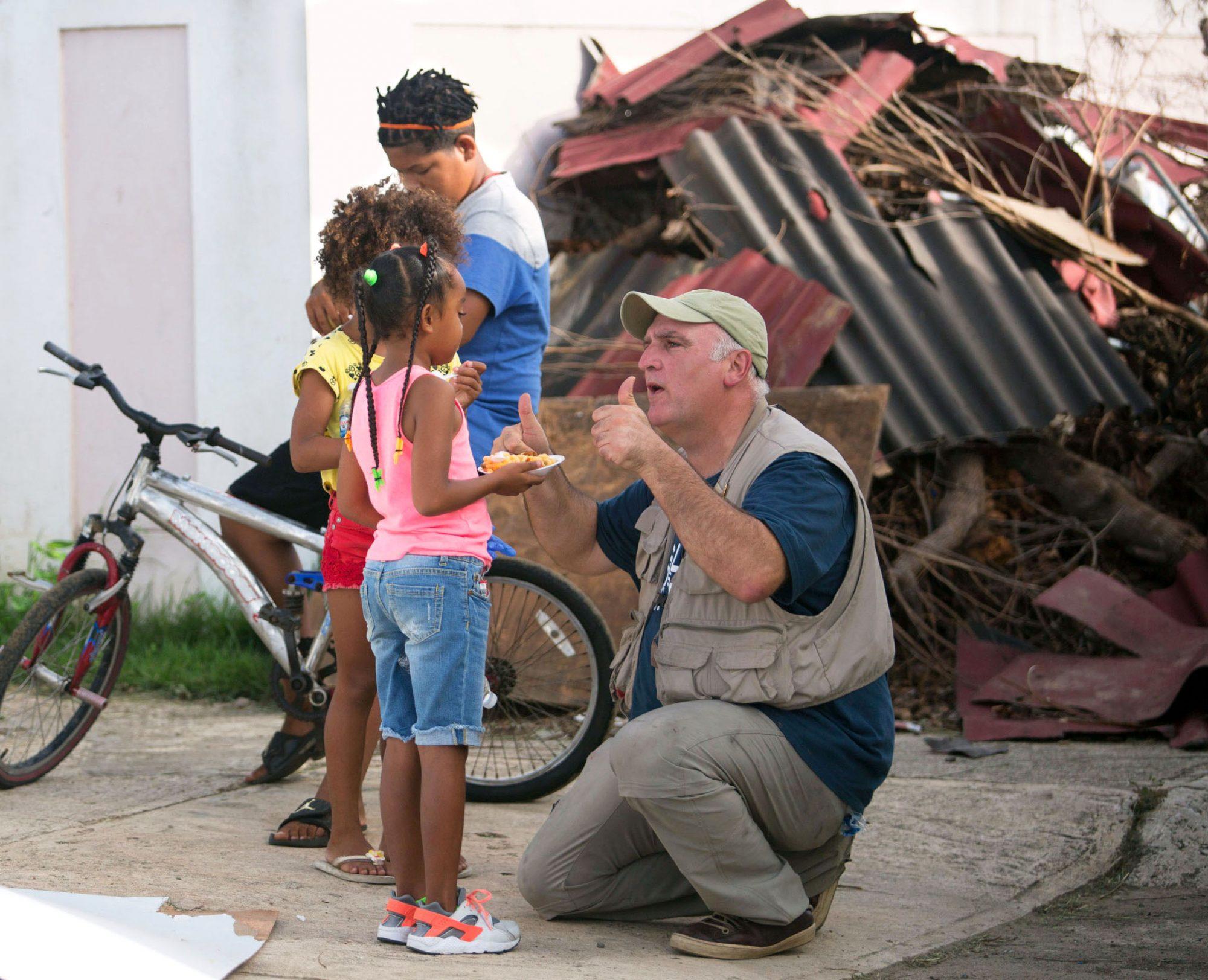 jose andres feeding children in puerto rico