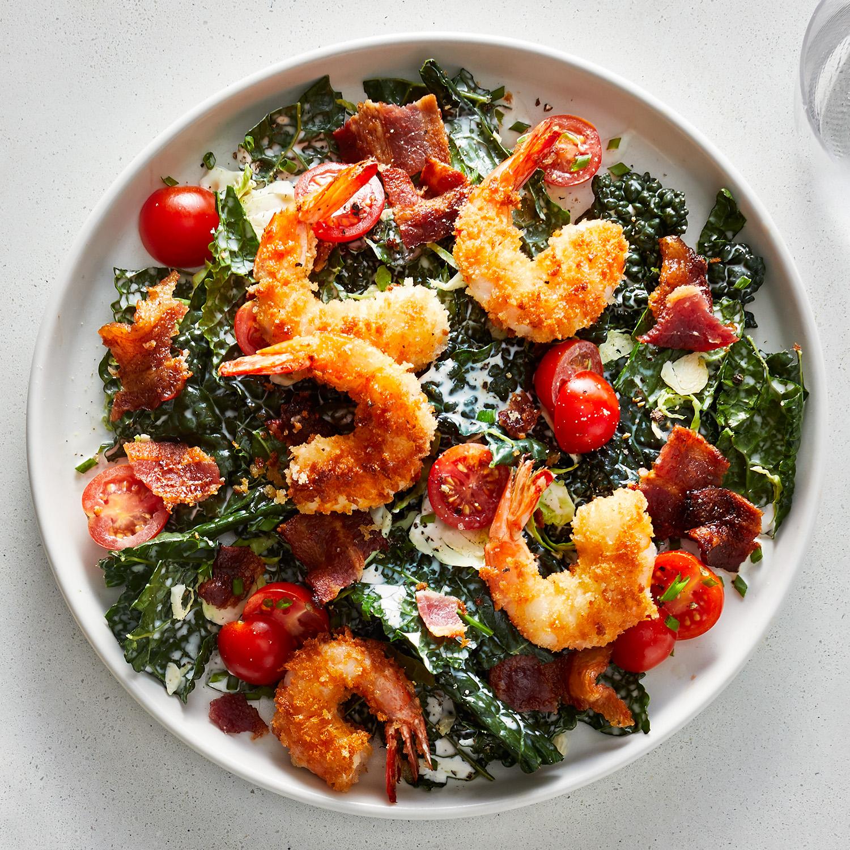 Crispy Shrimp BLT Salad