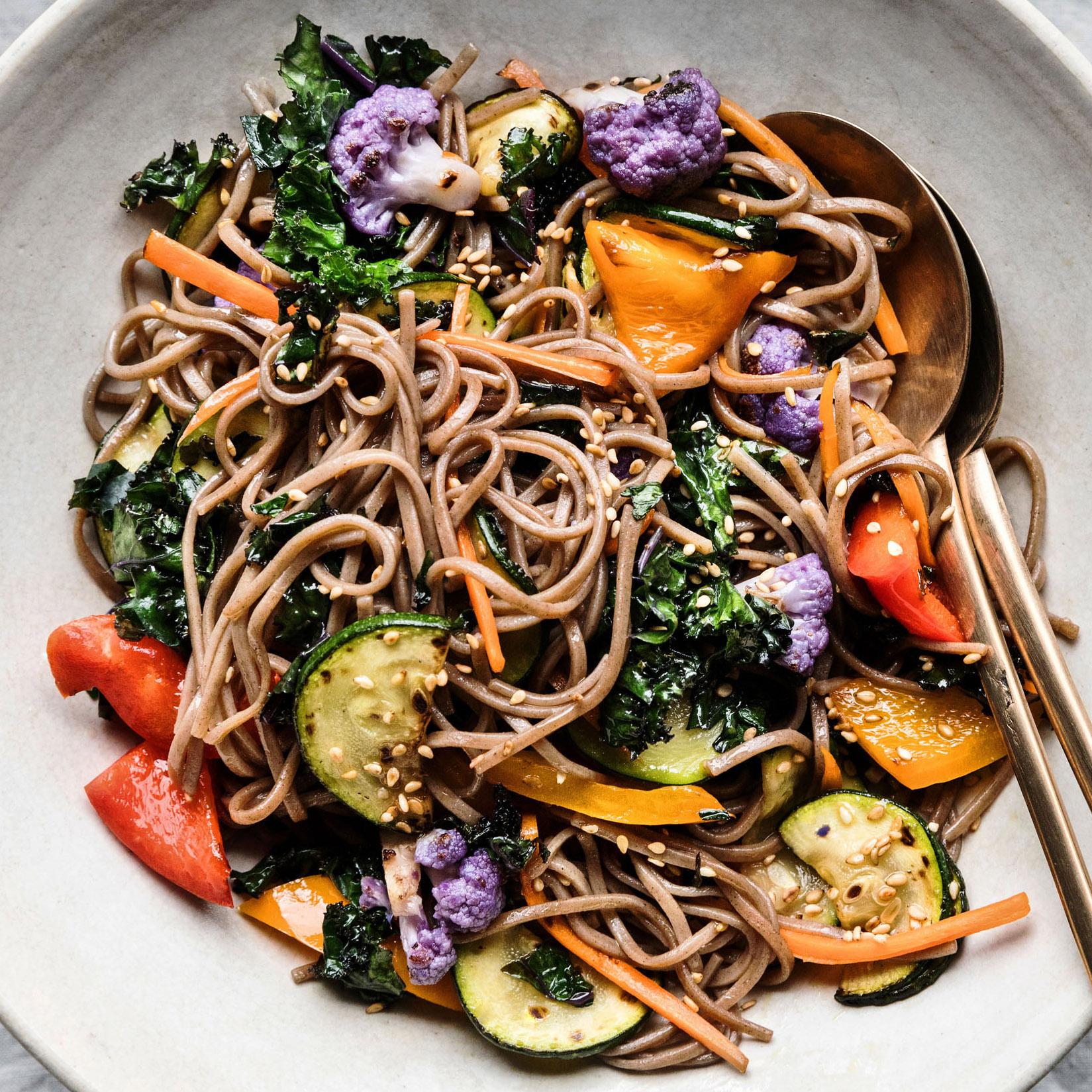 Veggie-Packed Soba Noodle Bowls