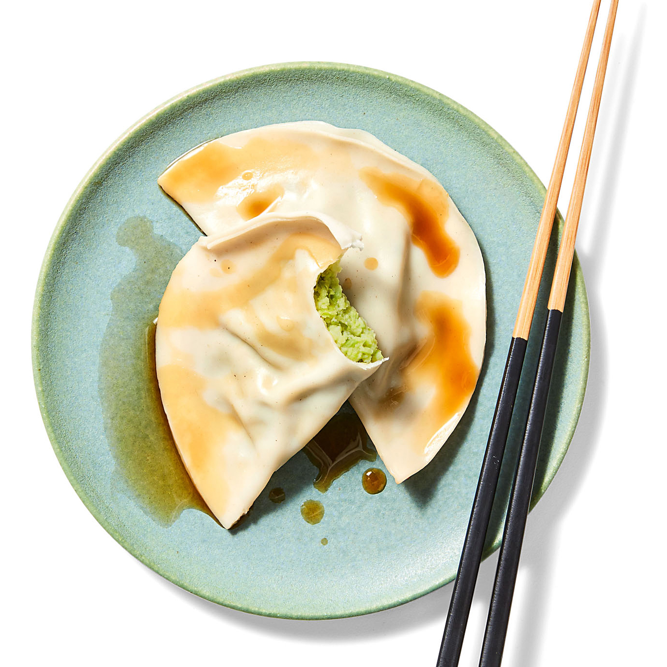 Miso Edamame-Scallion Dumplings