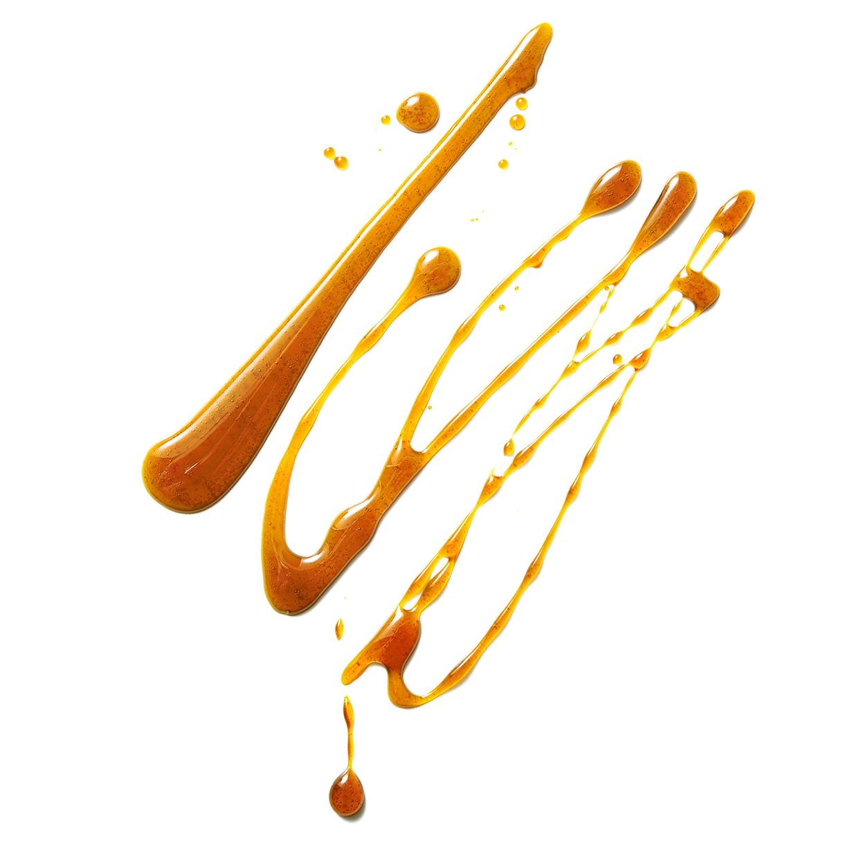 Caramel sauce swirl