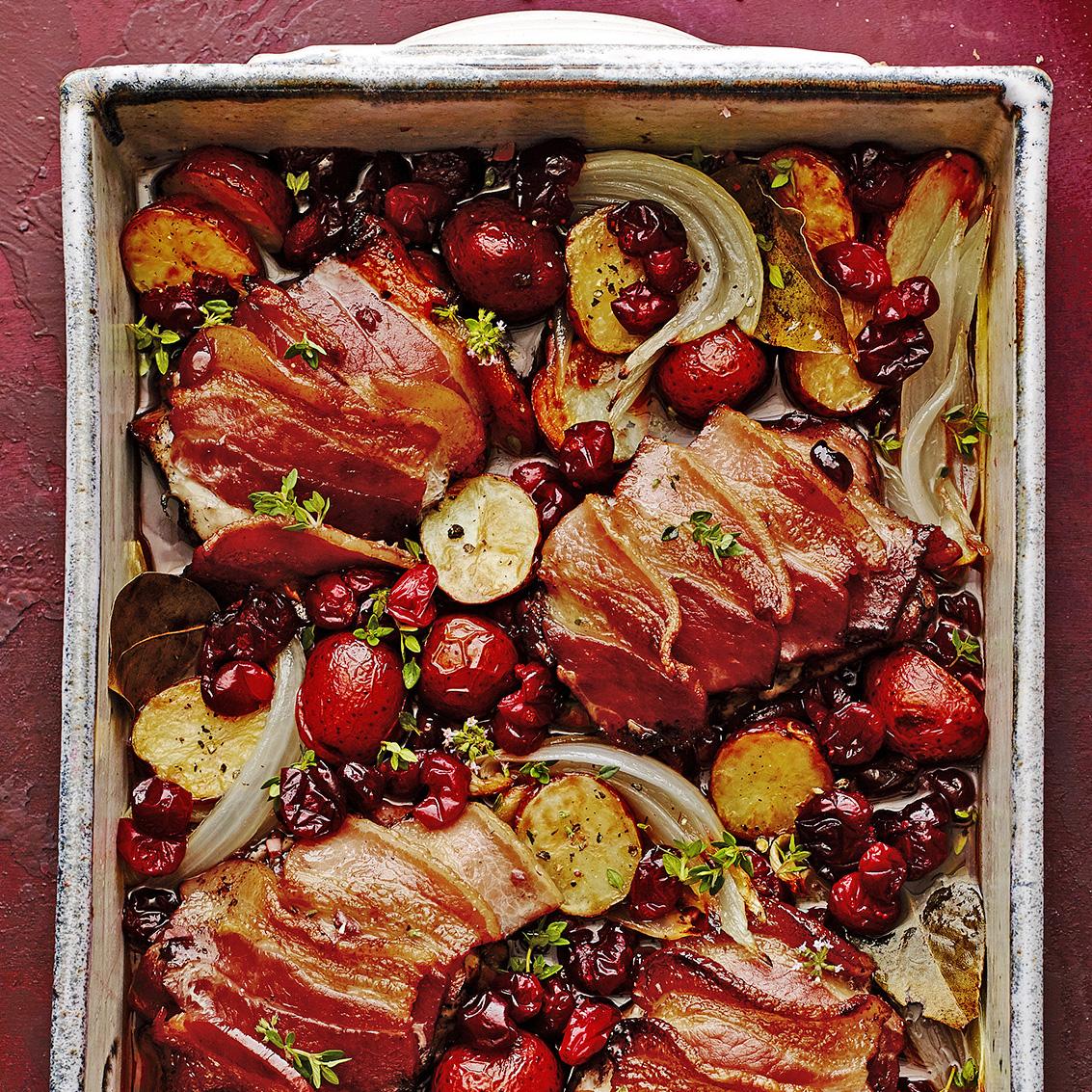 roasted cranberry coq au vin