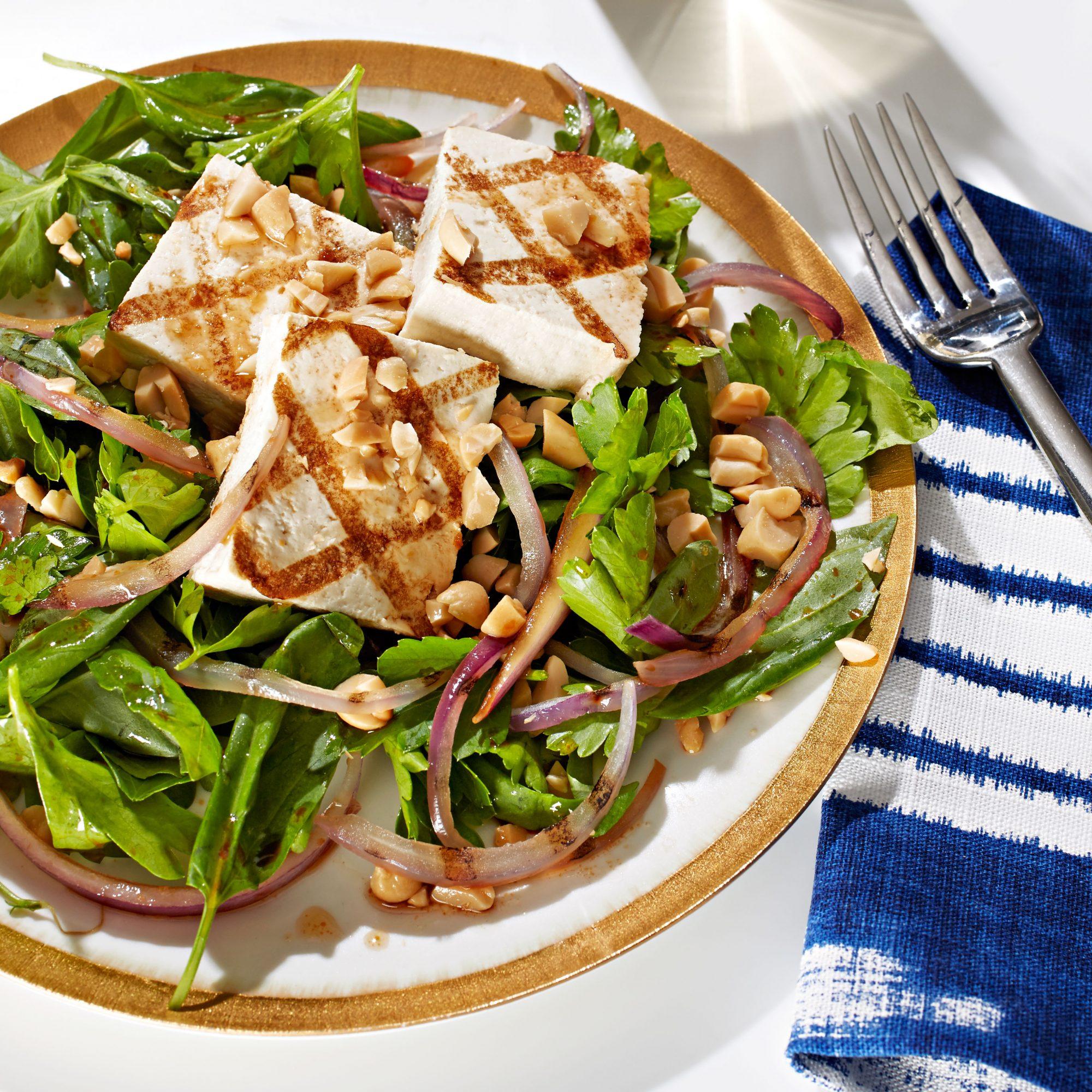 Amanda Cohen's Grilled Tofu & Onion Salad with Sesame-Lime Vinaigrette