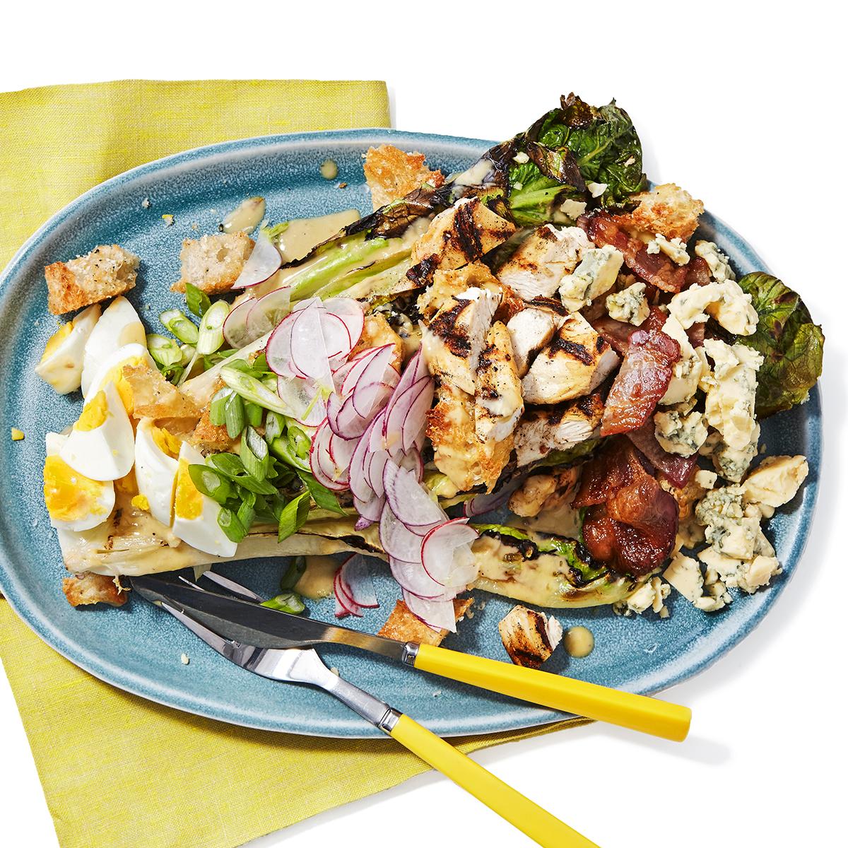 grilled romaine caesar and cobb salad