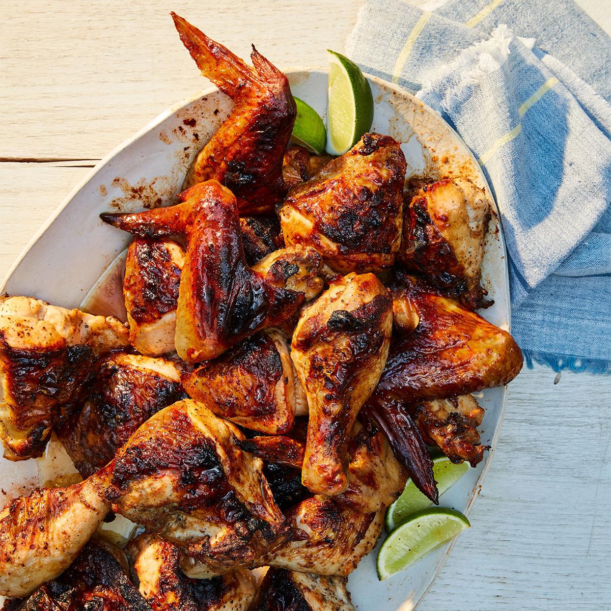 grilled filipino style chicken adobo